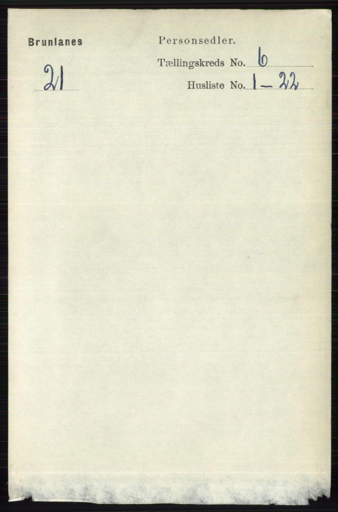 RA, Folketelling 1891 for 0726 Brunlanes herred, 1891, s. 2626