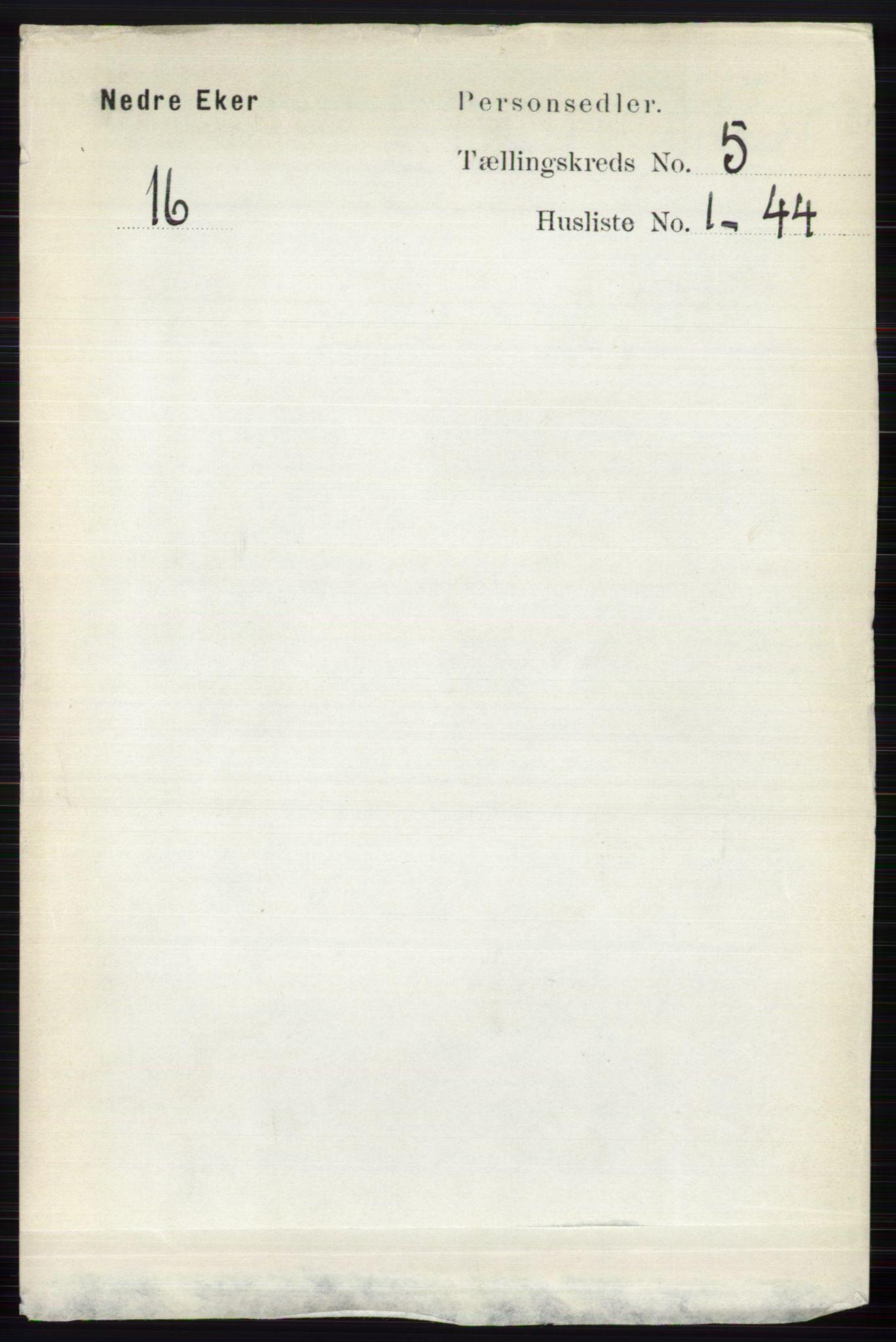 RA, Folketelling 1891 for 0625 Nedre Eiker herred, 1891, s. 2335