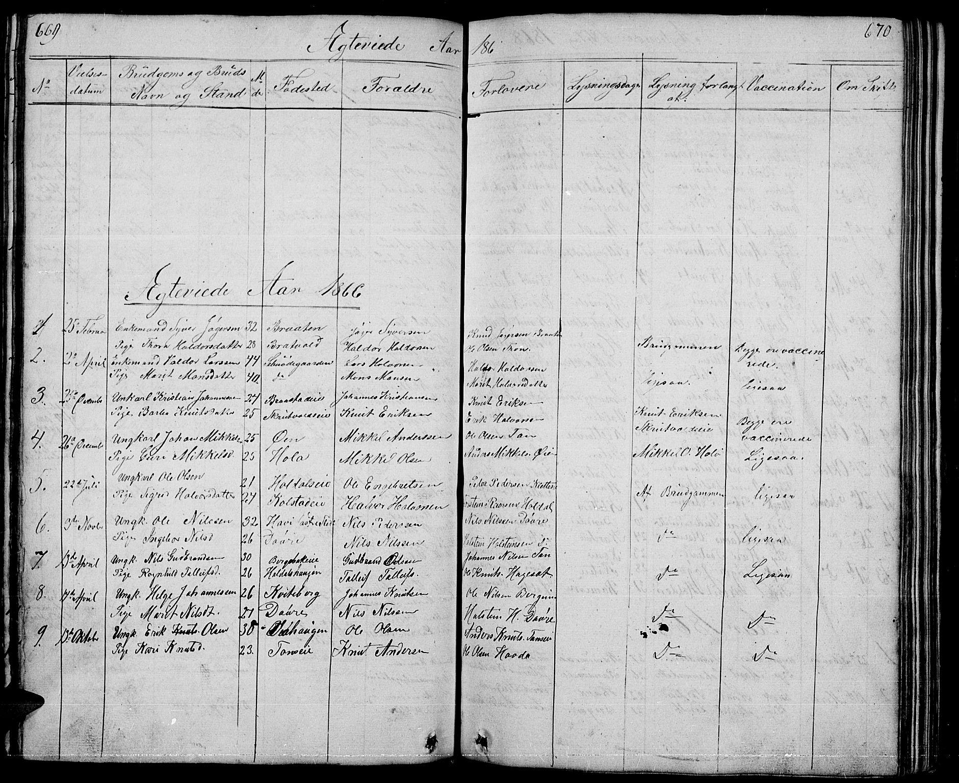 SAH, Nord-Aurdal prestekontor, Klokkerbok nr. 1, 1834-1887, s. 669-670