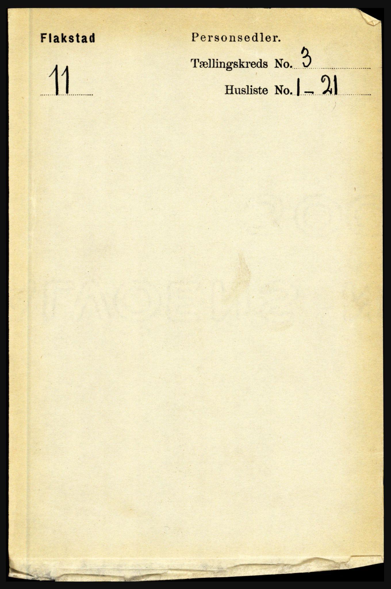 RA, Folketelling 1891 for 1859 Flakstad herred, 1891, s. 1298