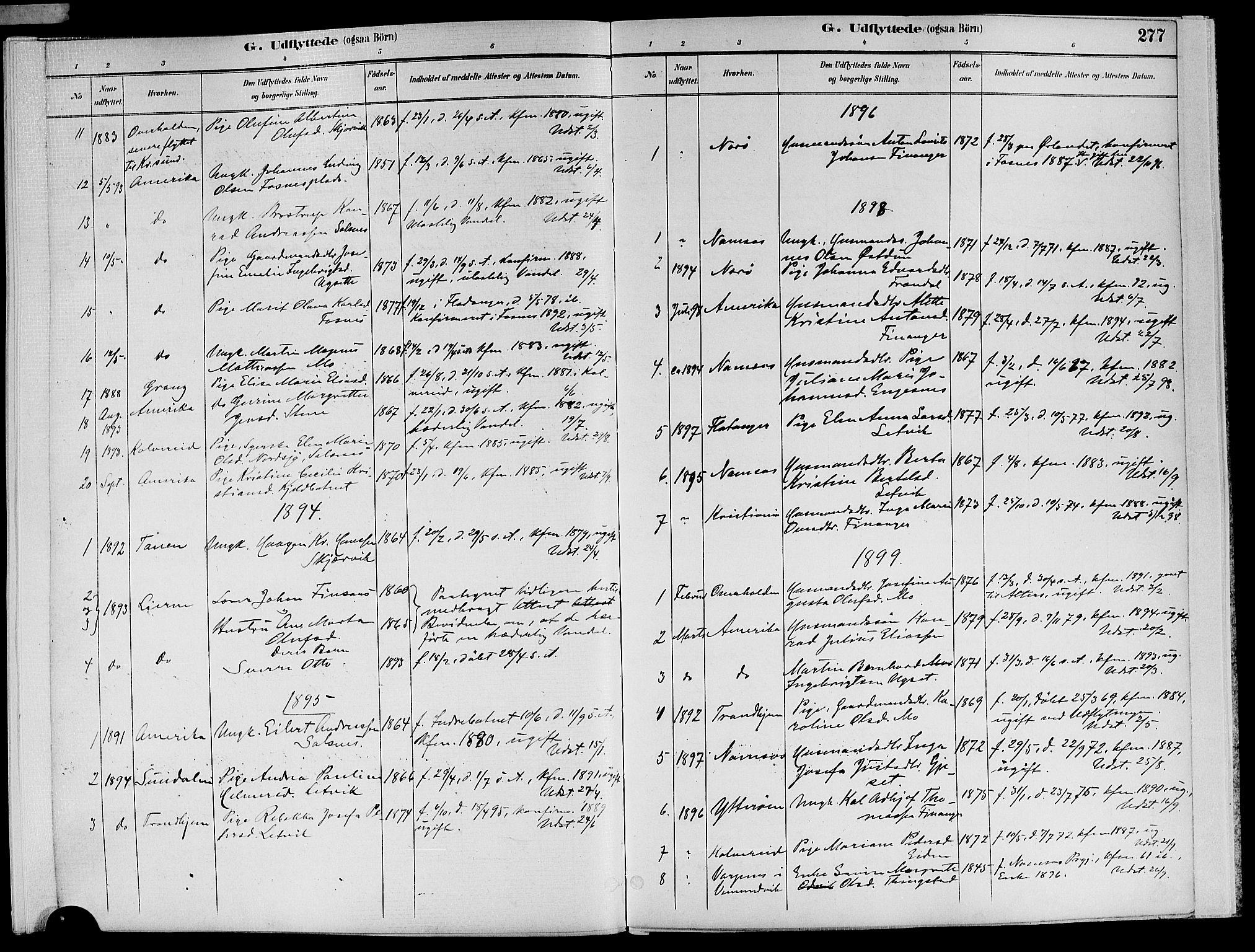 SAT, Ministerialprotokoller, klokkerbøker og fødselsregistre - Nord-Trøndelag, 773/L0617: Ministerialbok nr. 773A08, 1887-1910, s. 277