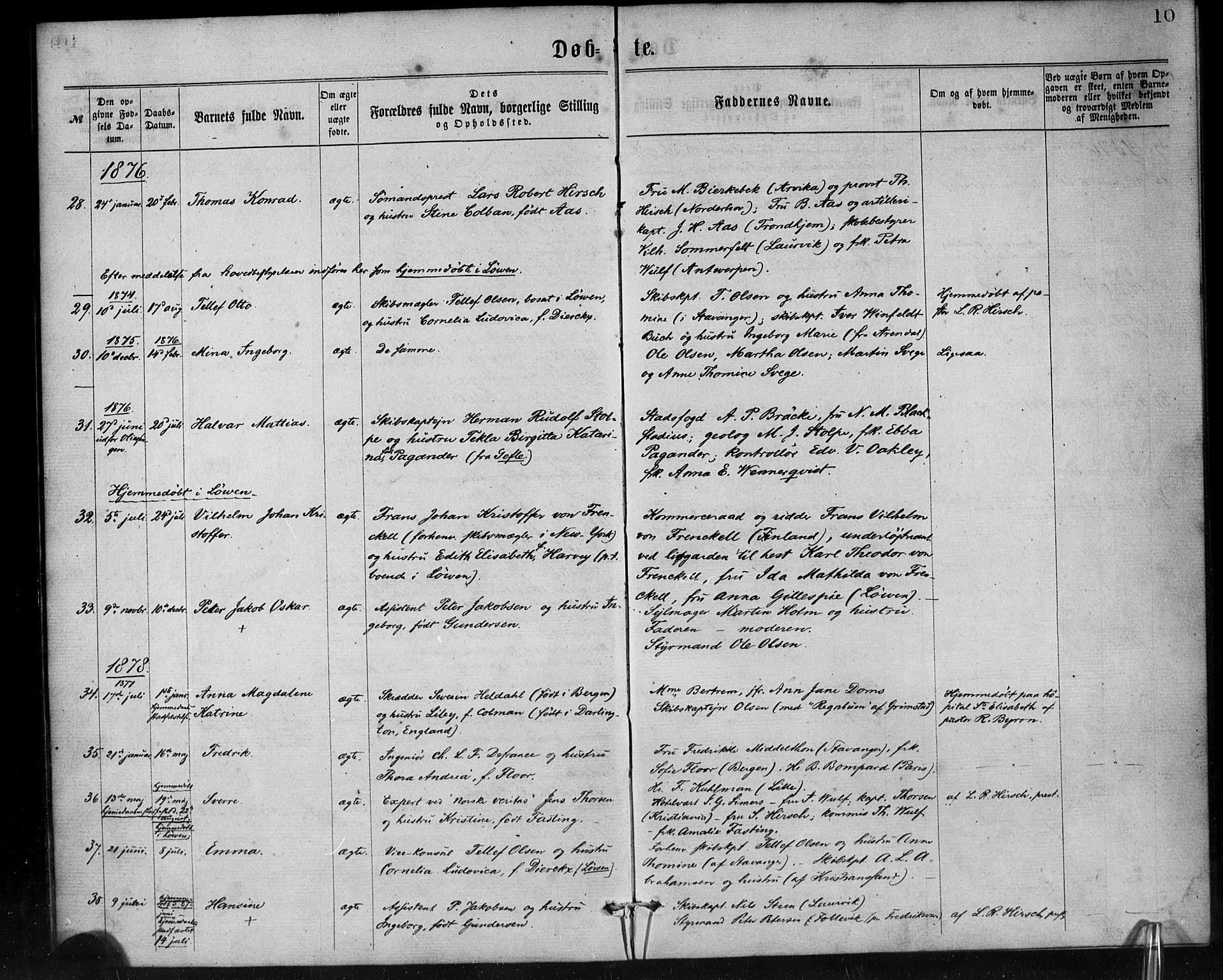 SAB, Den Norske Sjømannsmisjon i utlandet*, Ministerialbok nr. A 1, 1865-1887, s. 10