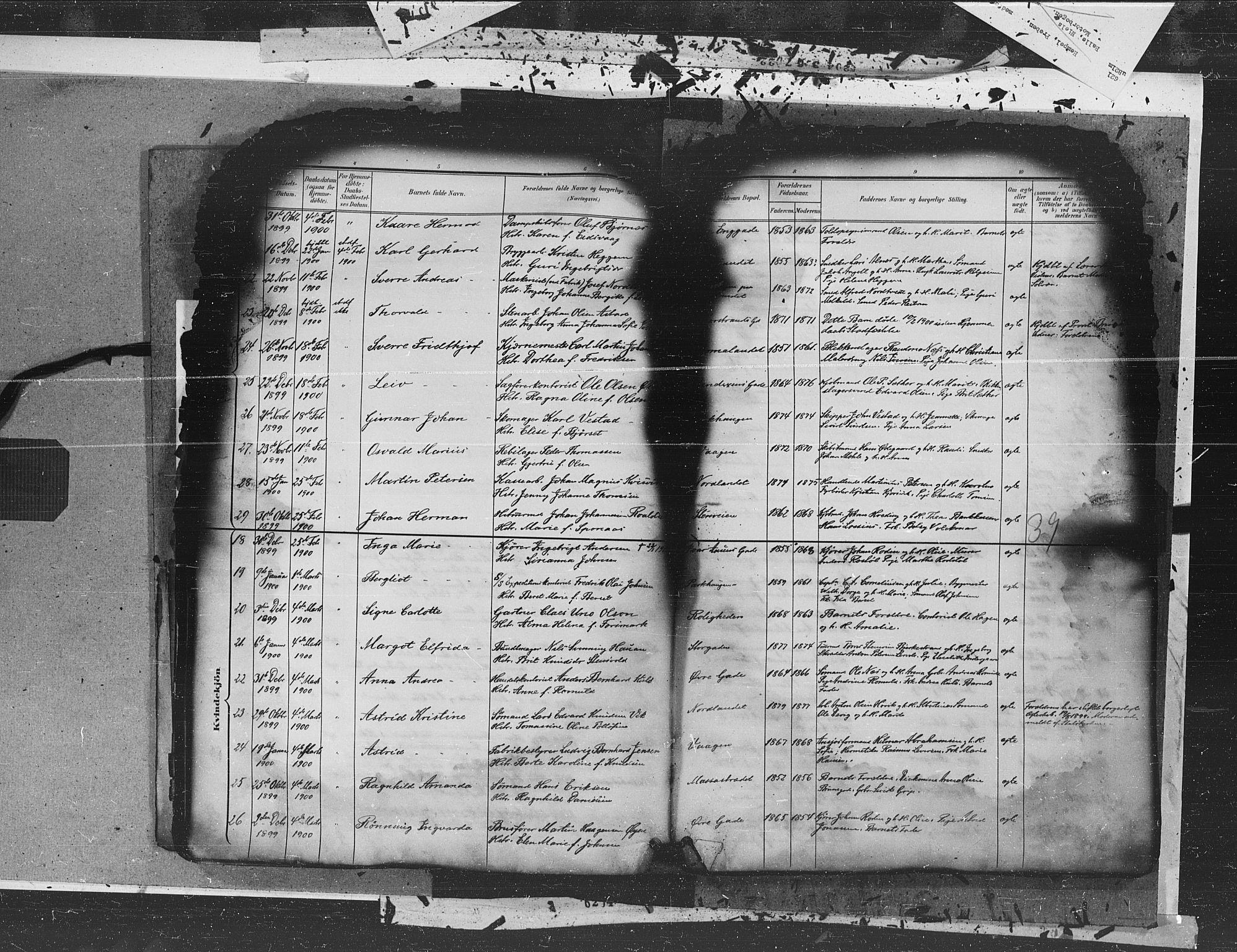 SAT, Ministerialprotokoller, klokkerbøker og fødselsregistre - Møre og Romsdal, 572/L0855: Ministerialbok nr. 572A18, 1898-1913, s. 39