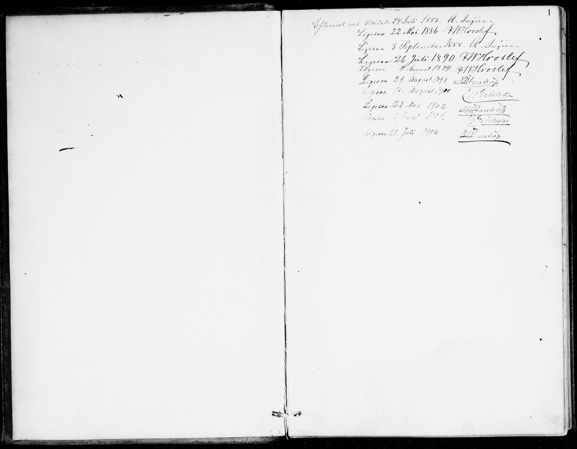 SAB, Lavik Sokneprestembete, Ministerialbok nr. C 1, 1882-1904, s. 1