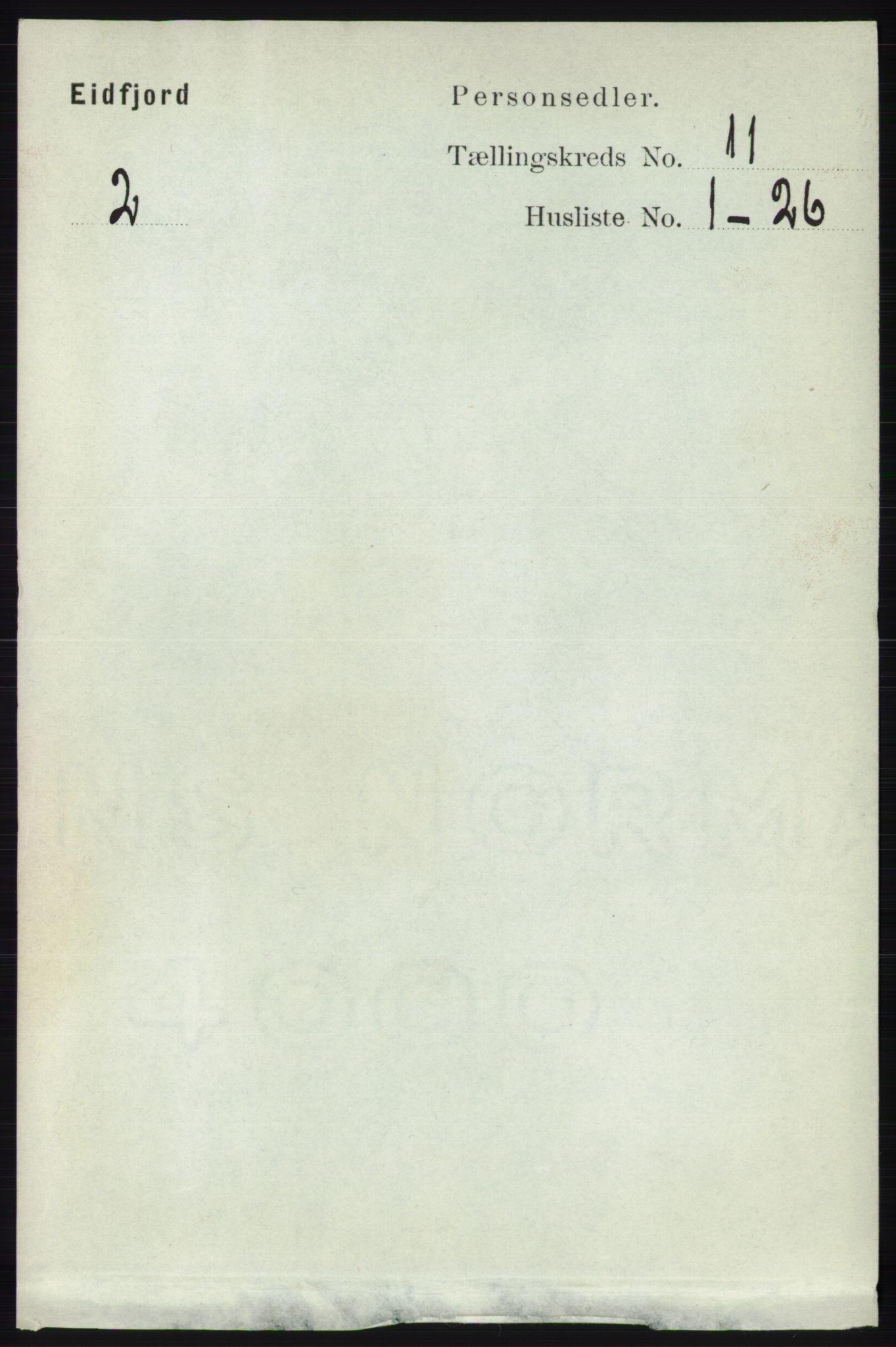 RA, Folketelling 1891 for 1233 Ulvik herred, 1891, s. 3466