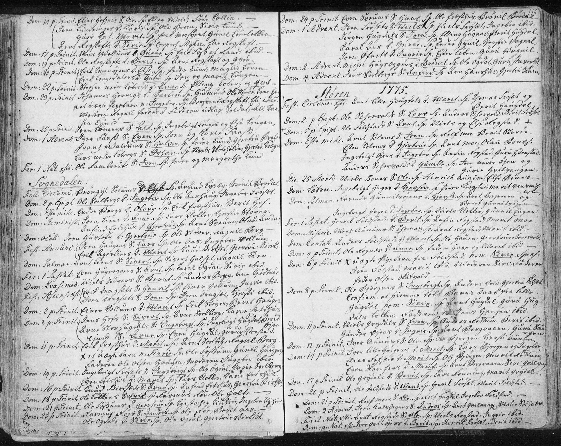 SAT, Ministerialprotokoller, klokkerbøker og fødselsregistre - Sør-Trøndelag, 687/L0991: Ministerialbok nr. 687A02, 1747-1790, s. 116