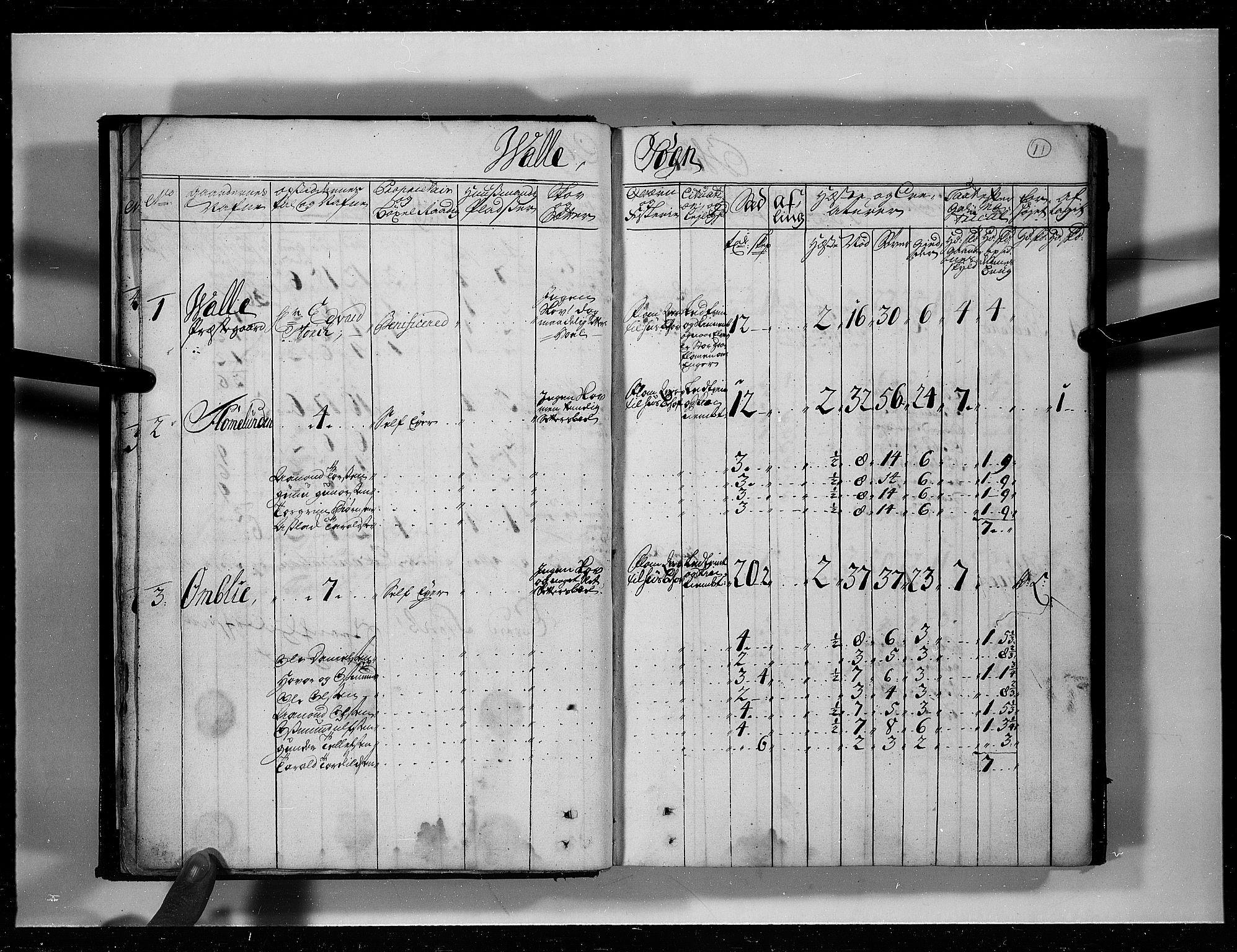 RA, Rentekammeret inntil 1814, Realistisk ordnet avdeling, N/Nb/Nbf/L0125: Råbyggelag eksaminasjonsprotokoll, 1723, s. 10b-11a