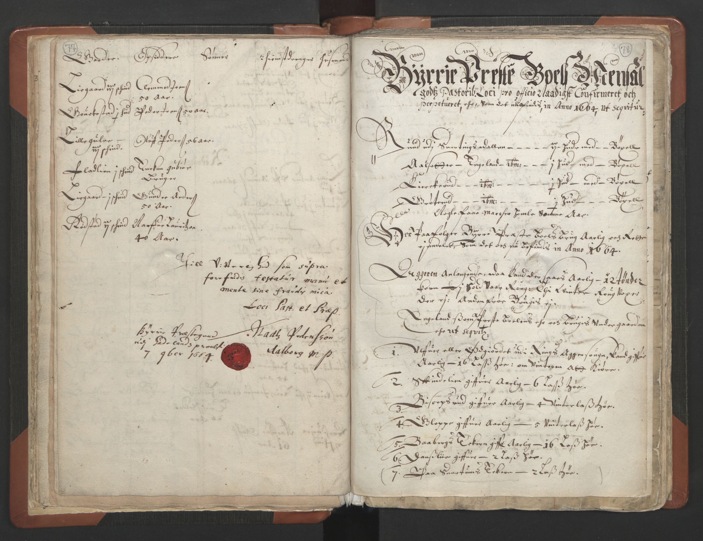 RA, Sogneprestenes manntall 1664-1666, nr. 7: Hadeland prosti, 1664-1666, s. 77-78