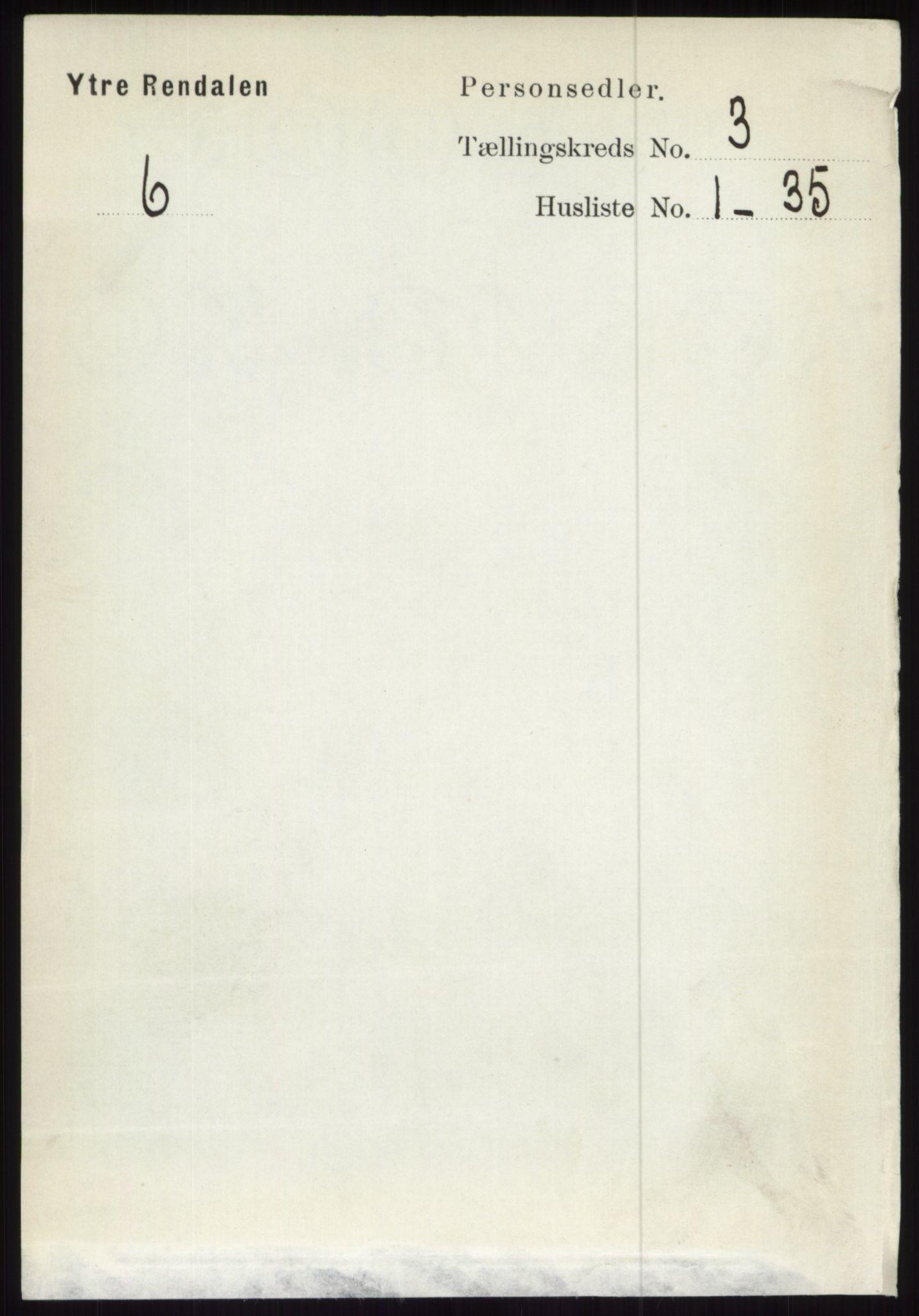 RA, Folketelling 1891 for 0432 Ytre Rendal herred, 1891, s. 445