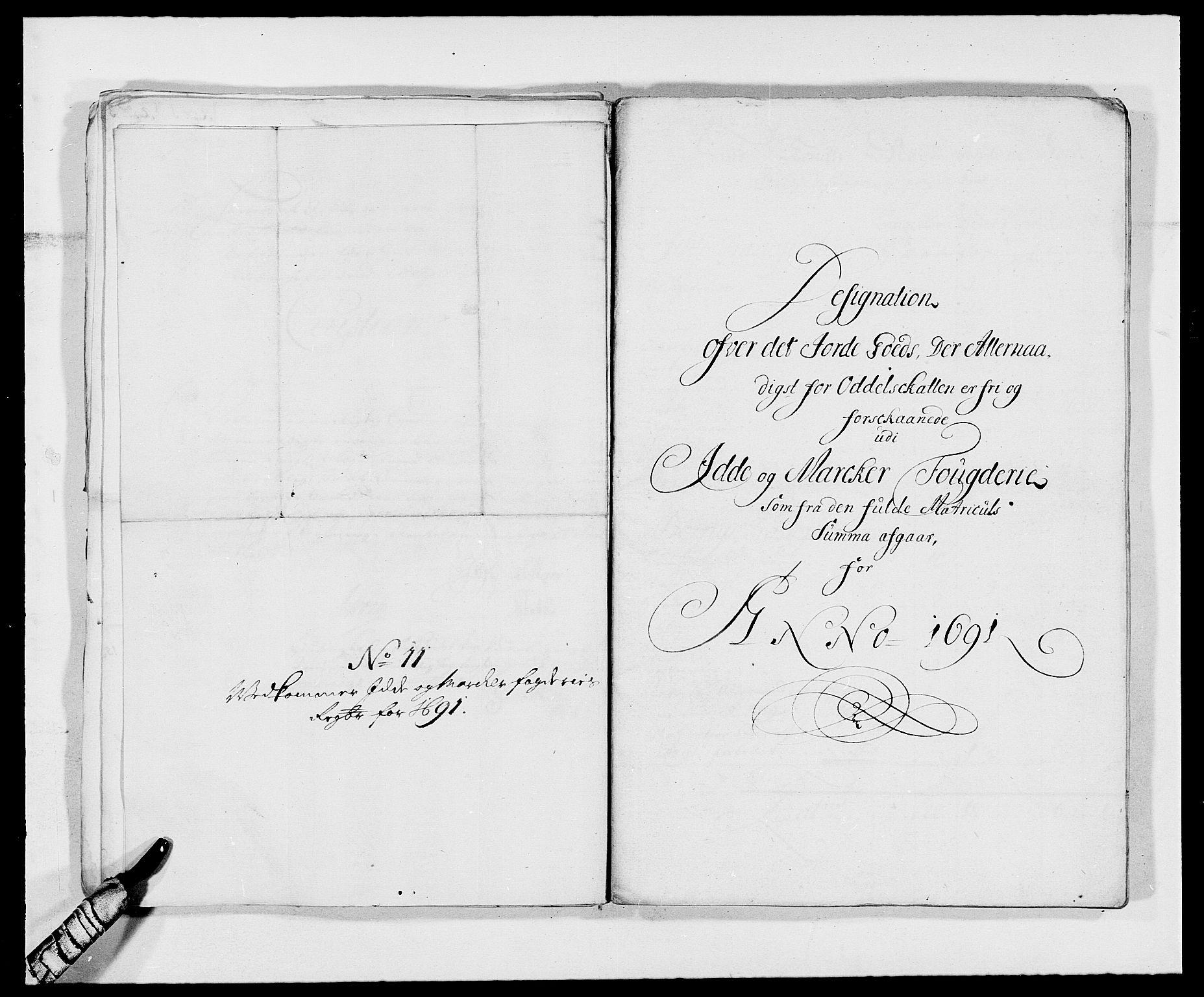 RA, Rentekammeret inntil 1814, Reviderte regnskaper, Fogderegnskap, R01/L0010: Fogderegnskap Idd og Marker, 1690-1691, s. 86