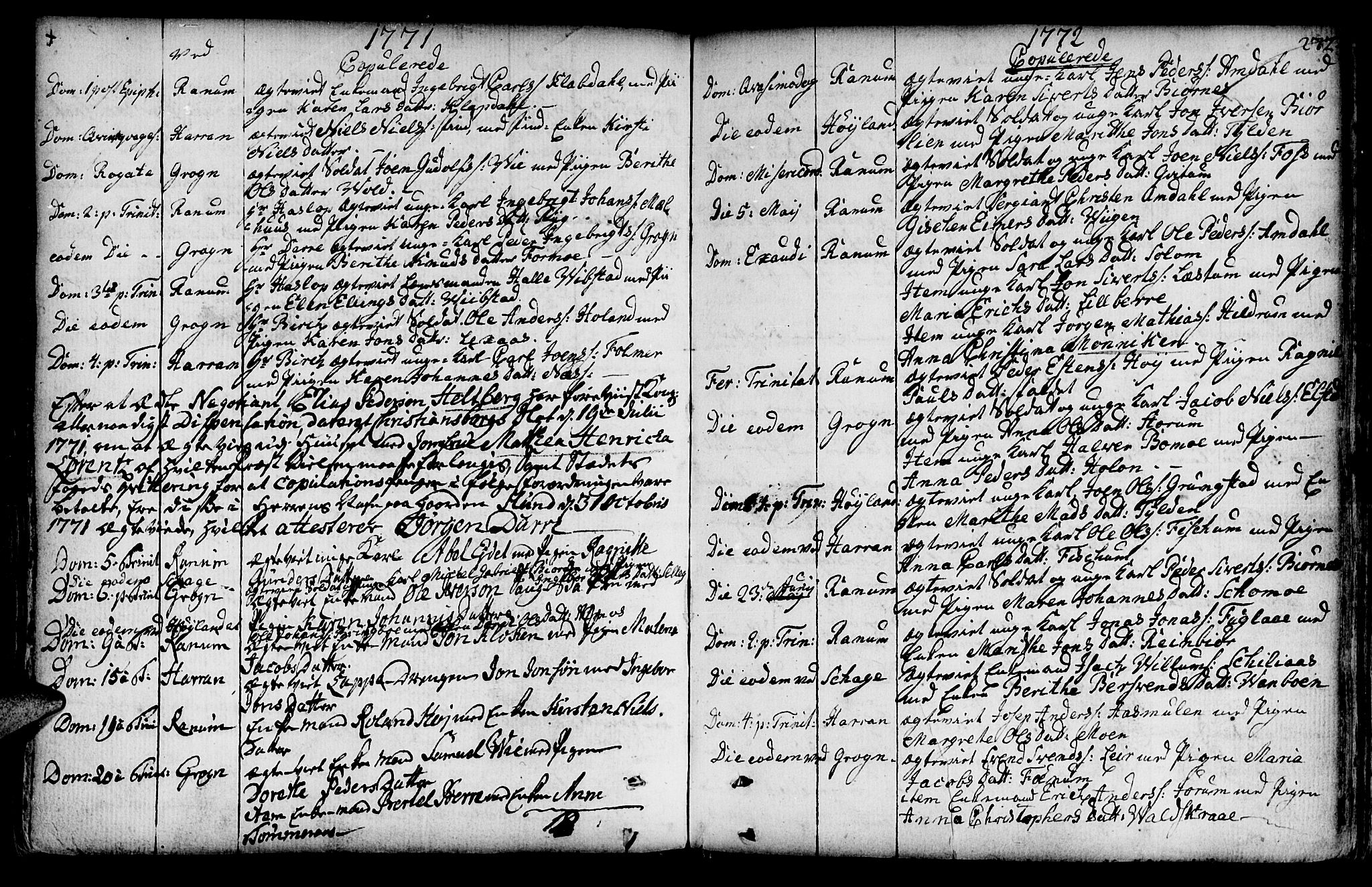 SAT, Ministerialprotokoller, klokkerbøker og fødselsregistre - Nord-Trøndelag, 764/L0542: Ministerialbok nr. 764A02, 1748-1779, s. 272