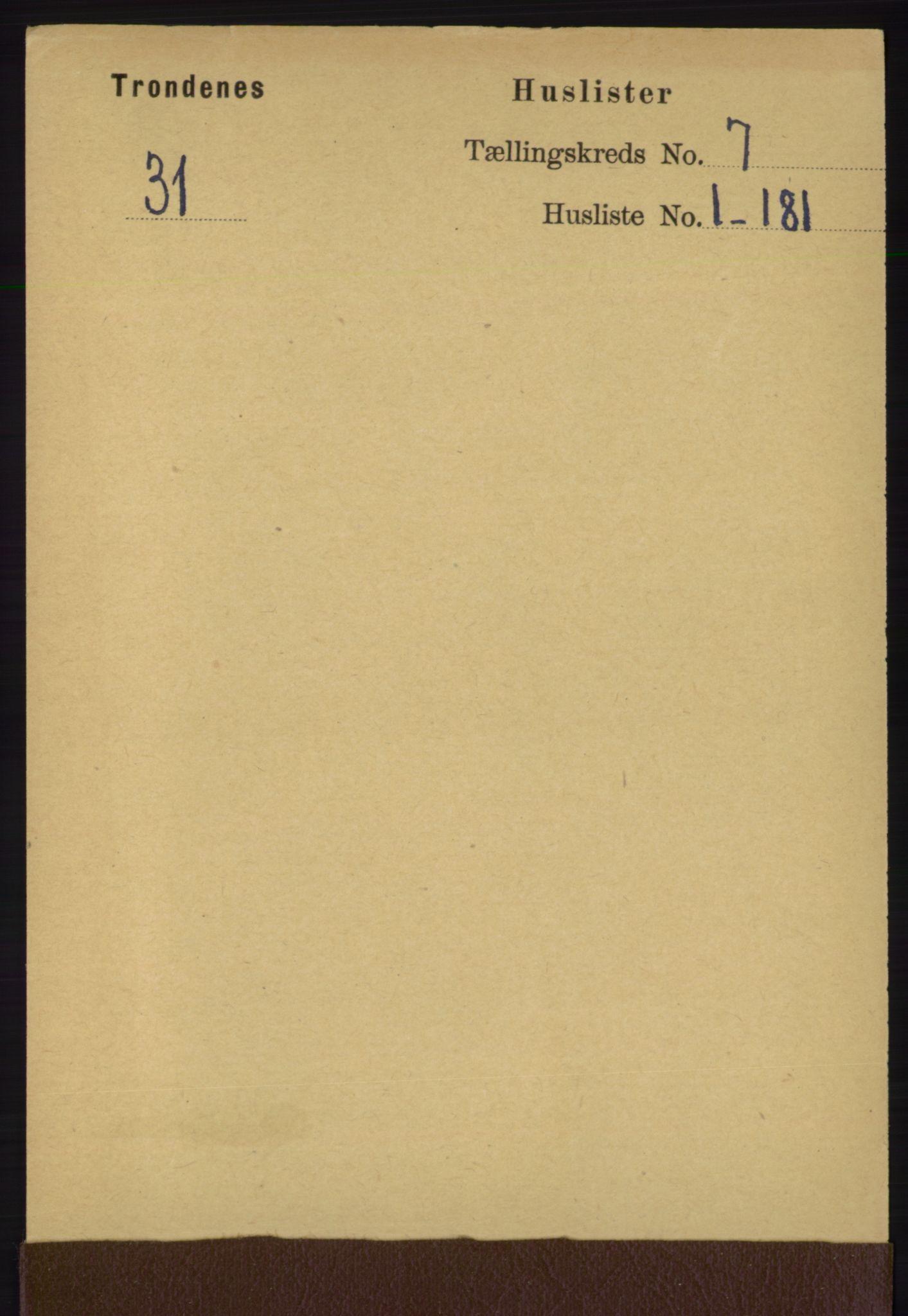 RA, Folketelling 1891 for 1914 Trondenes herred, 1891, s. 4323