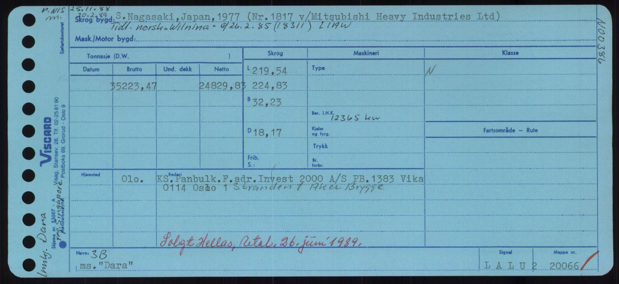 RA, Sjøfartsdirektoratet med forløpere, Skipsmålingen, H/Hd/L0008: Fartøy, C-D, s. 409