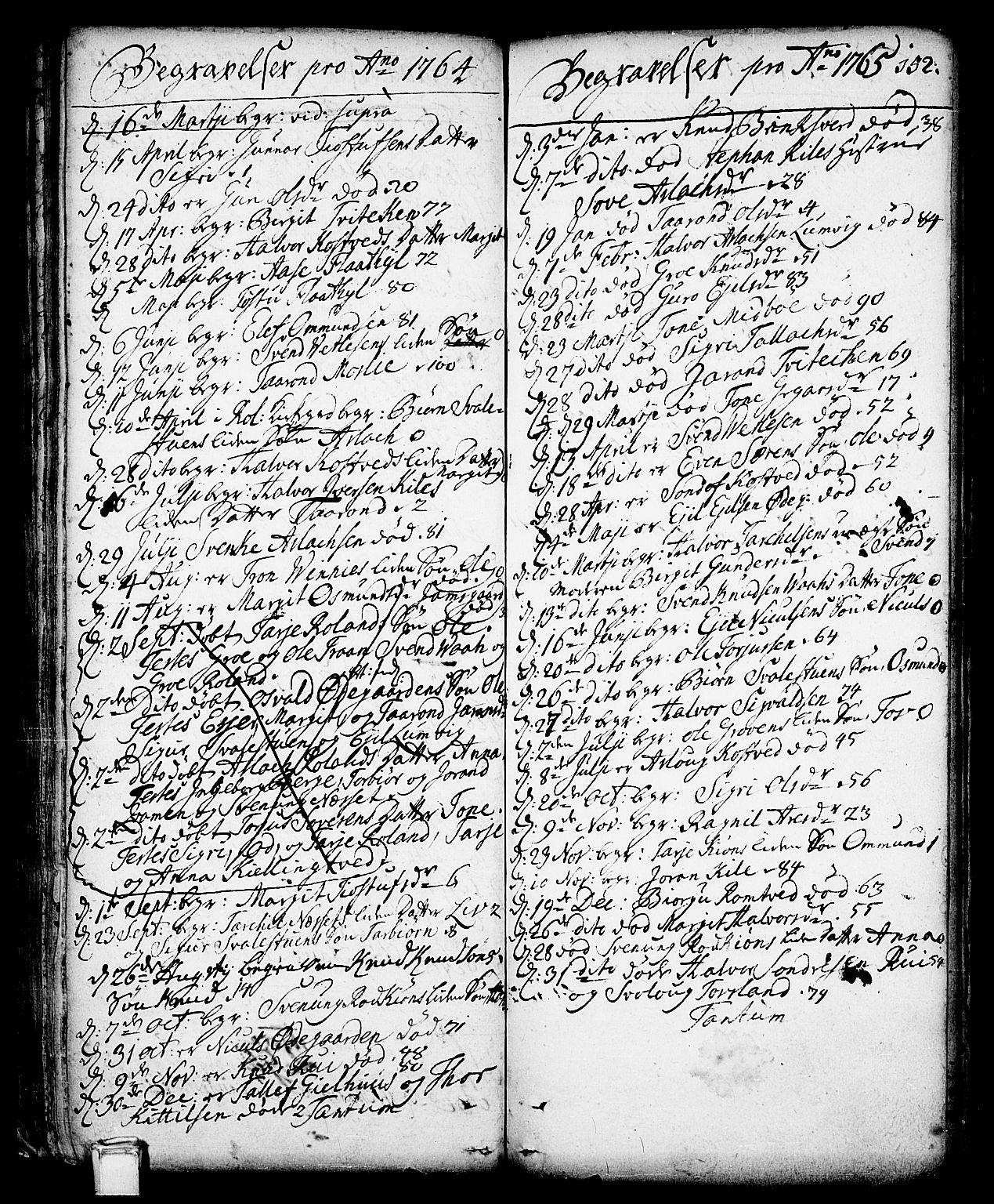 SAKO, Vinje kirkebøker, F/Fa/L0001: Ministerialbok nr. I 1, 1717-1766, s. 152