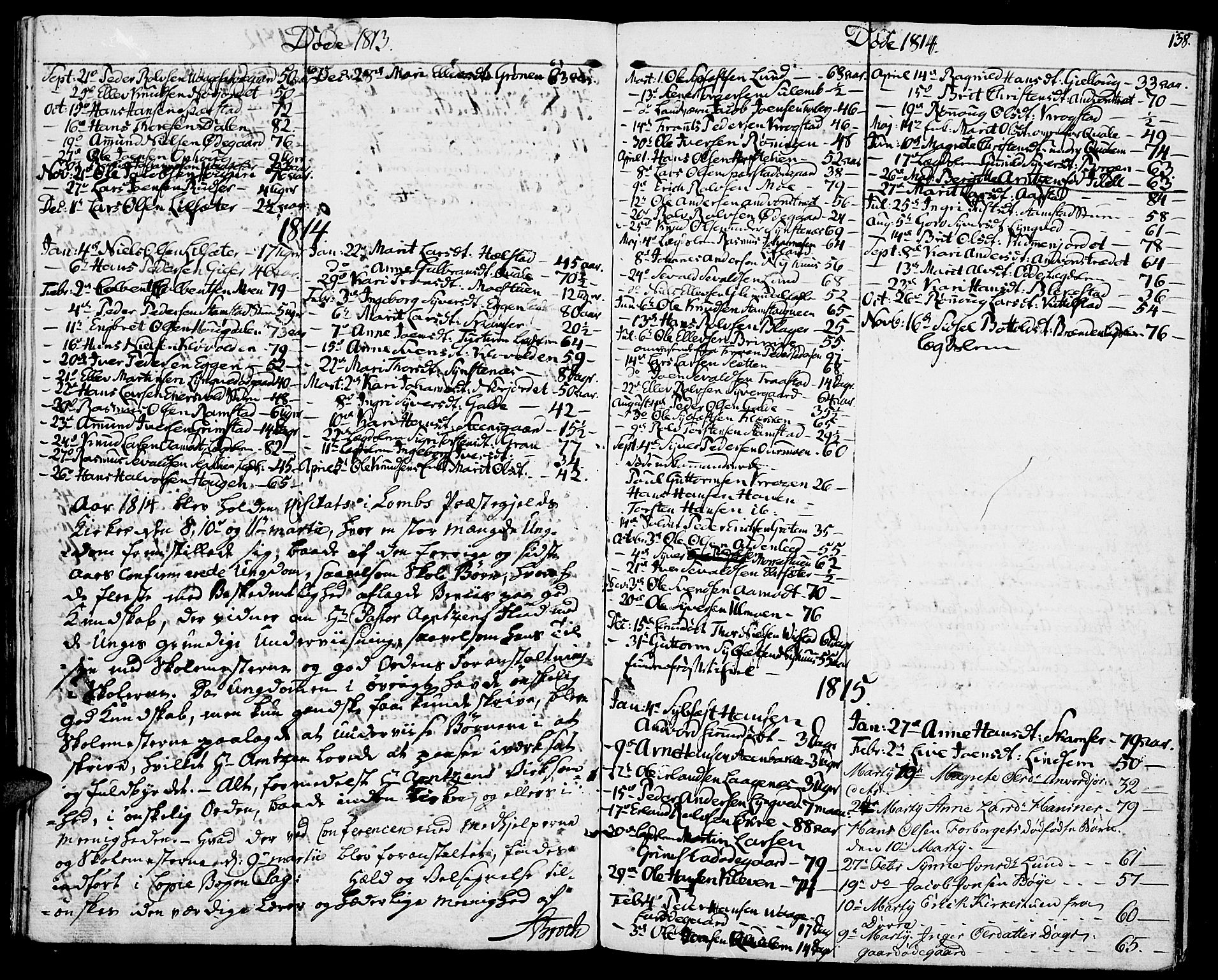 SAH, Lom prestekontor, K/L0003: Ministerialbok nr. 3, 1801-1825, s. 138