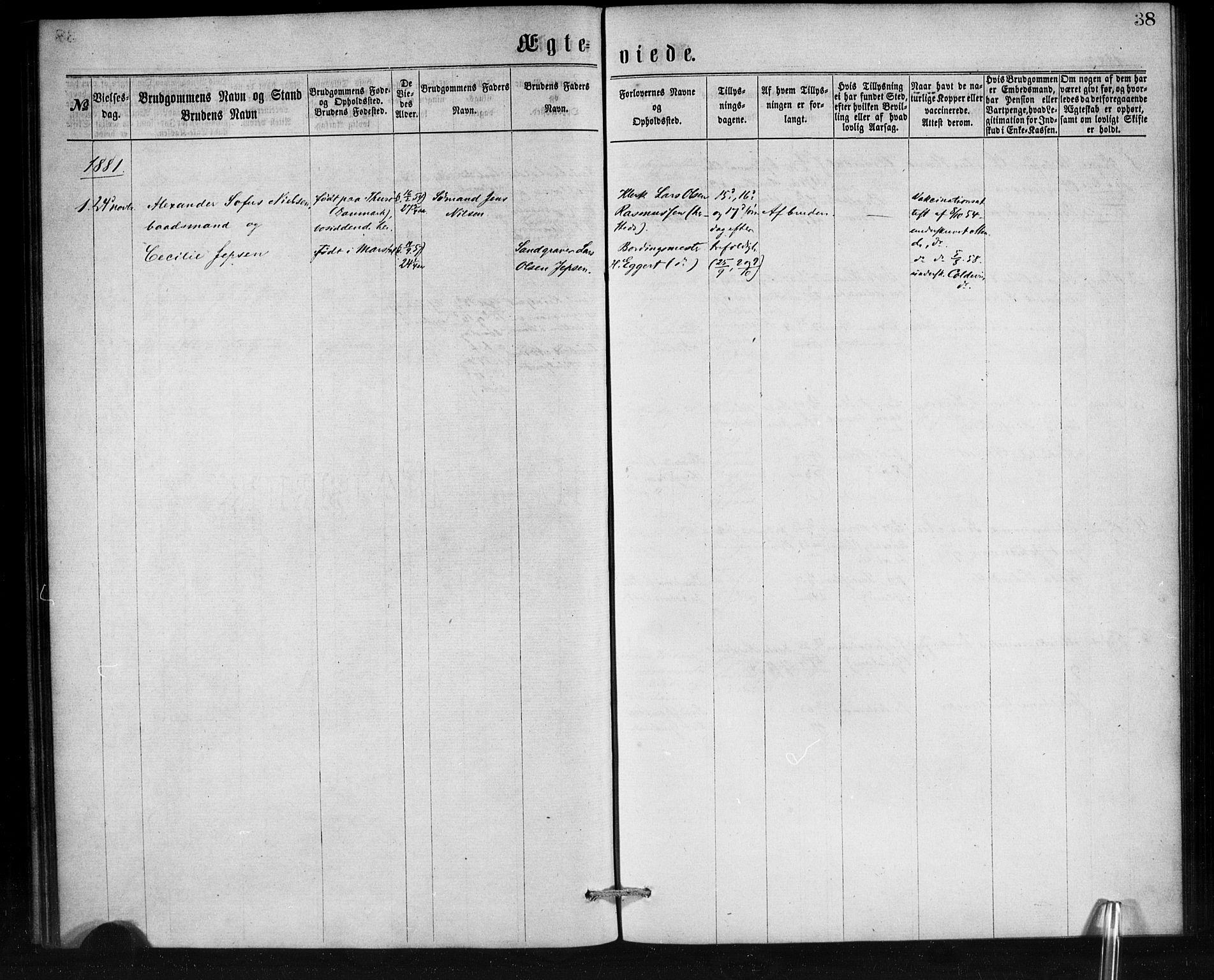 SAB, Den Norske Sjømannsmisjon i utlandet*, Ministerialbok nr. A 1, 1865-1887, s. 38