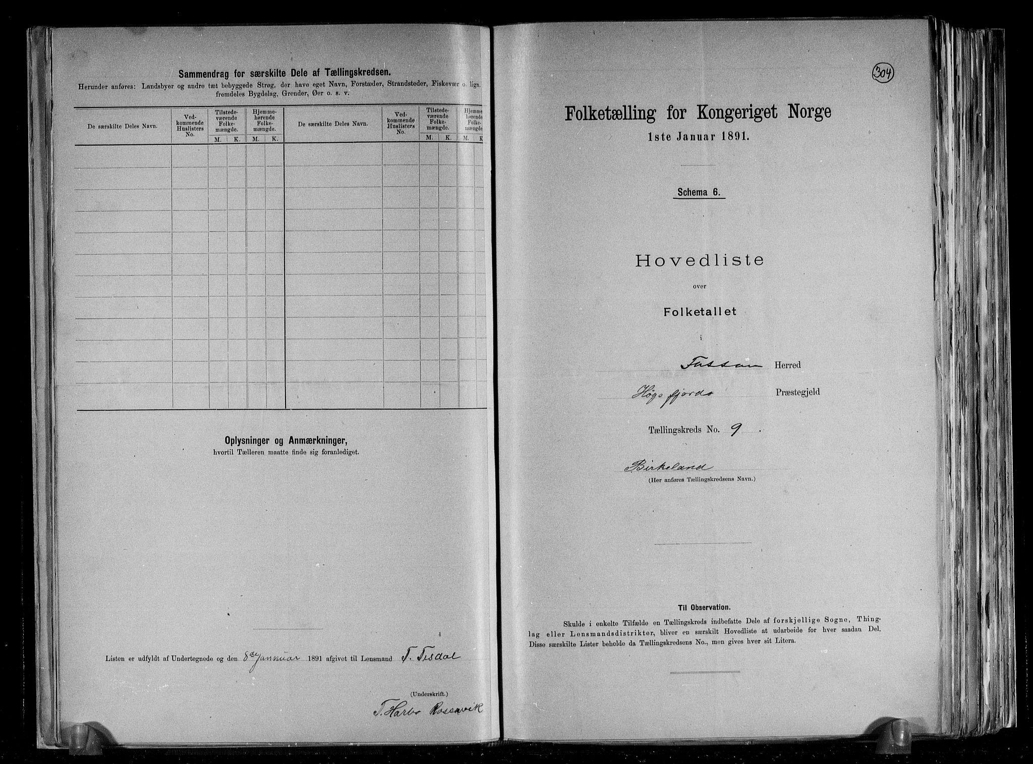 RA, Folketelling 1891 for 1129 Forsand herred, 1891, s. 20