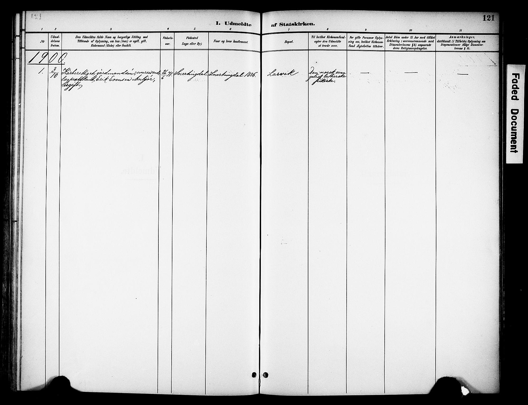 SAH, Biri prestekontor, Ministerialbok nr. 8, 1894-1901, s. 121