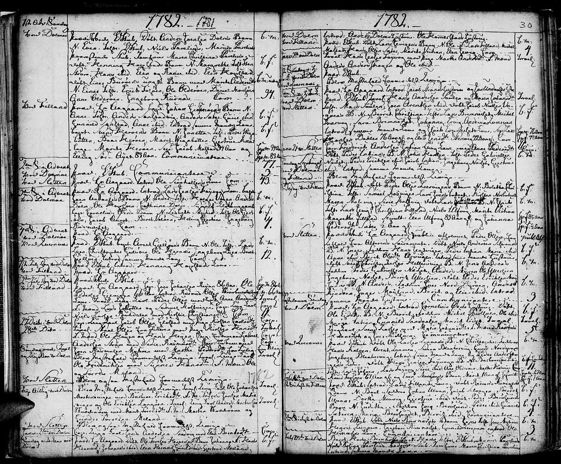 SAT, Ministerialprotokoller, klokkerbøker og fødselsregistre - Sør-Trøndelag, 634/L0526: Ministerialbok nr. 634A02, 1775-1818, s. 30