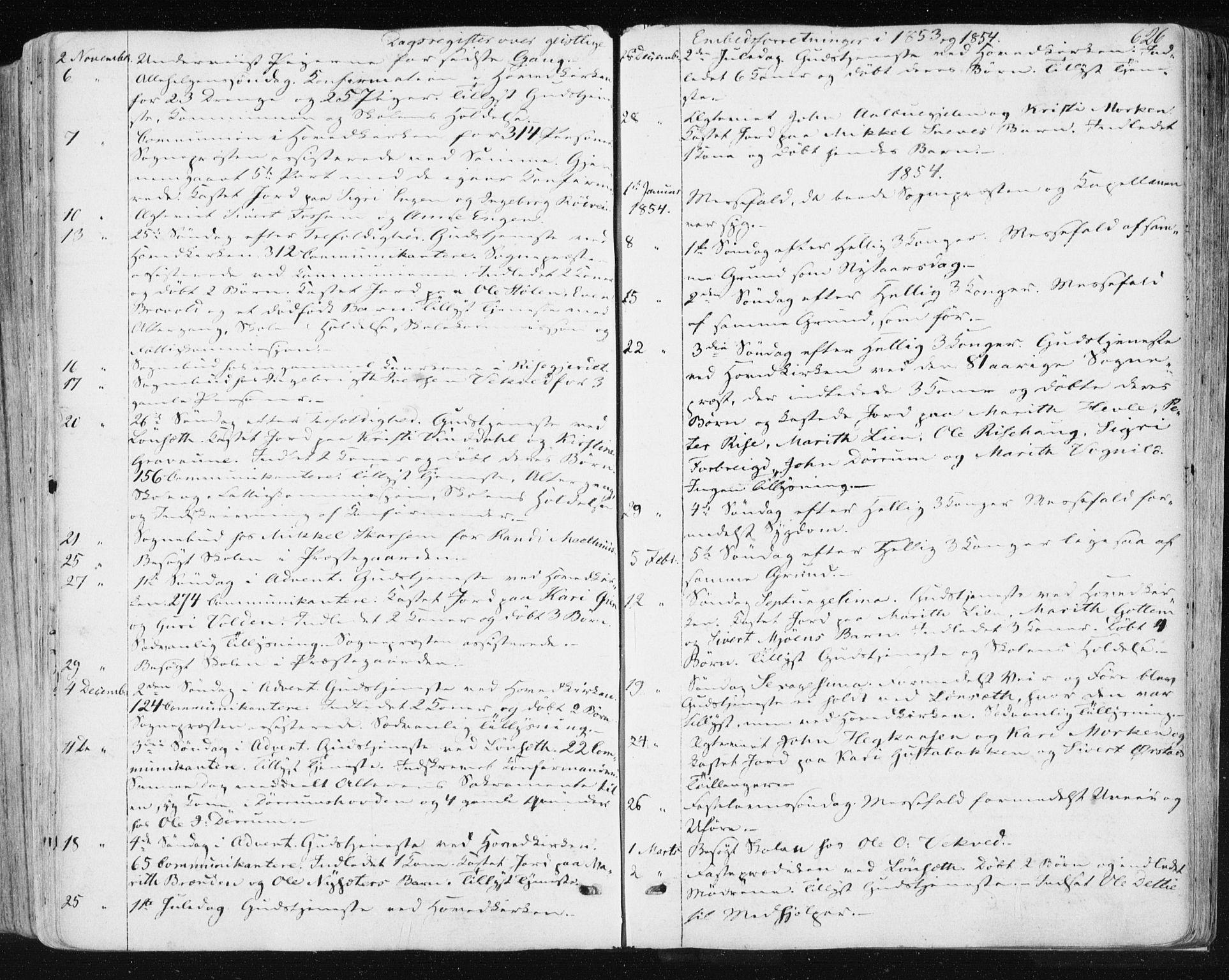 SAT, Ministerialprotokoller, klokkerbøker og fødselsregistre - Sør-Trøndelag, 678/L0899: Ministerialbok nr. 678A08, 1848-1872, s. 626