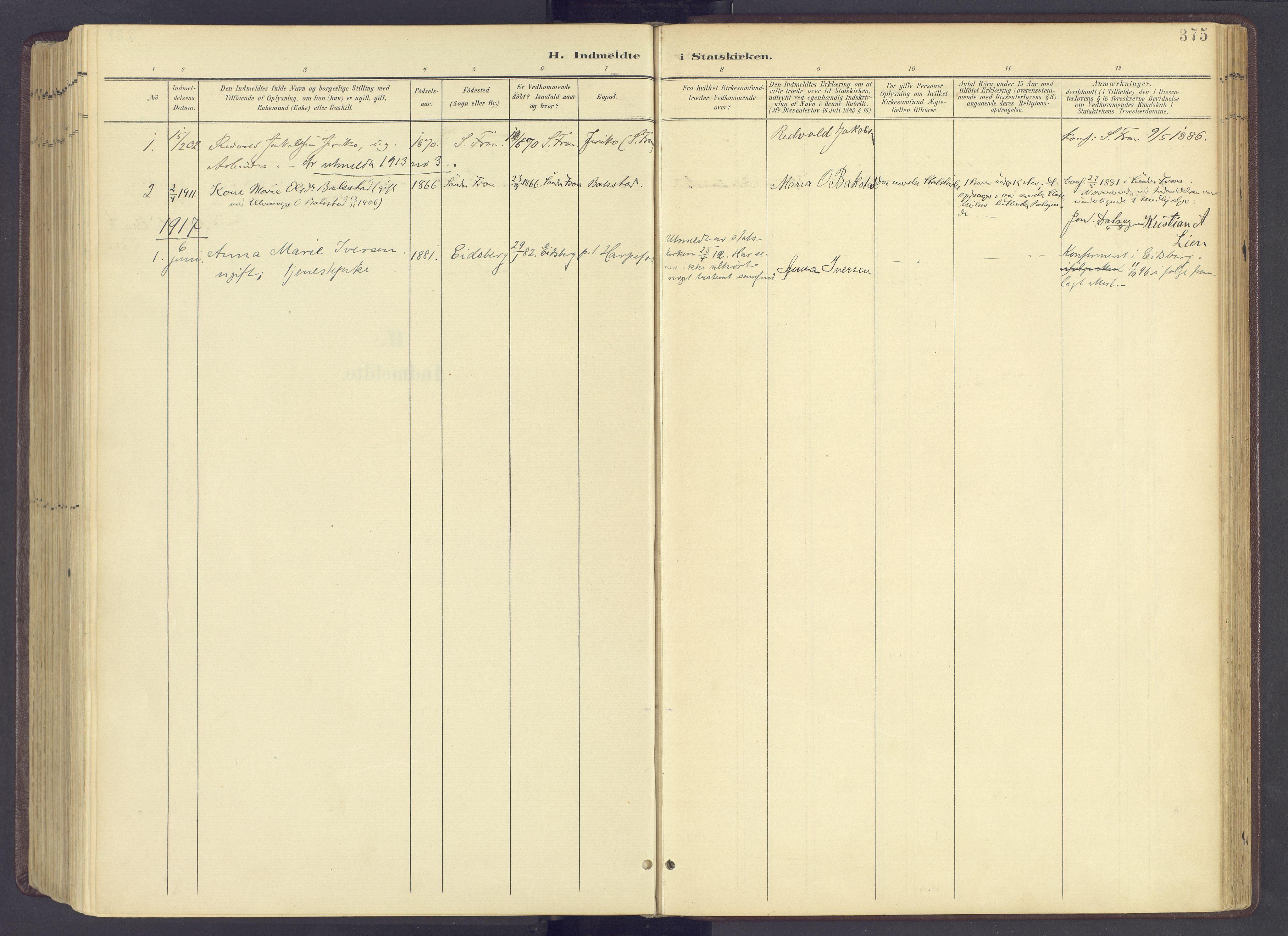 SAH, Sør-Fron prestekontor, H/Ha/Haa/L0004: Ministerialbok nr. 4, 1898-1919, s. 375