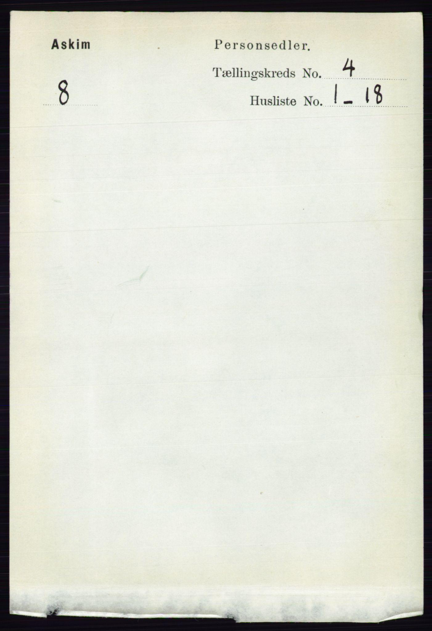 RA, Folketelling 1891 for 0124 Askim herred, 1891, s. 485