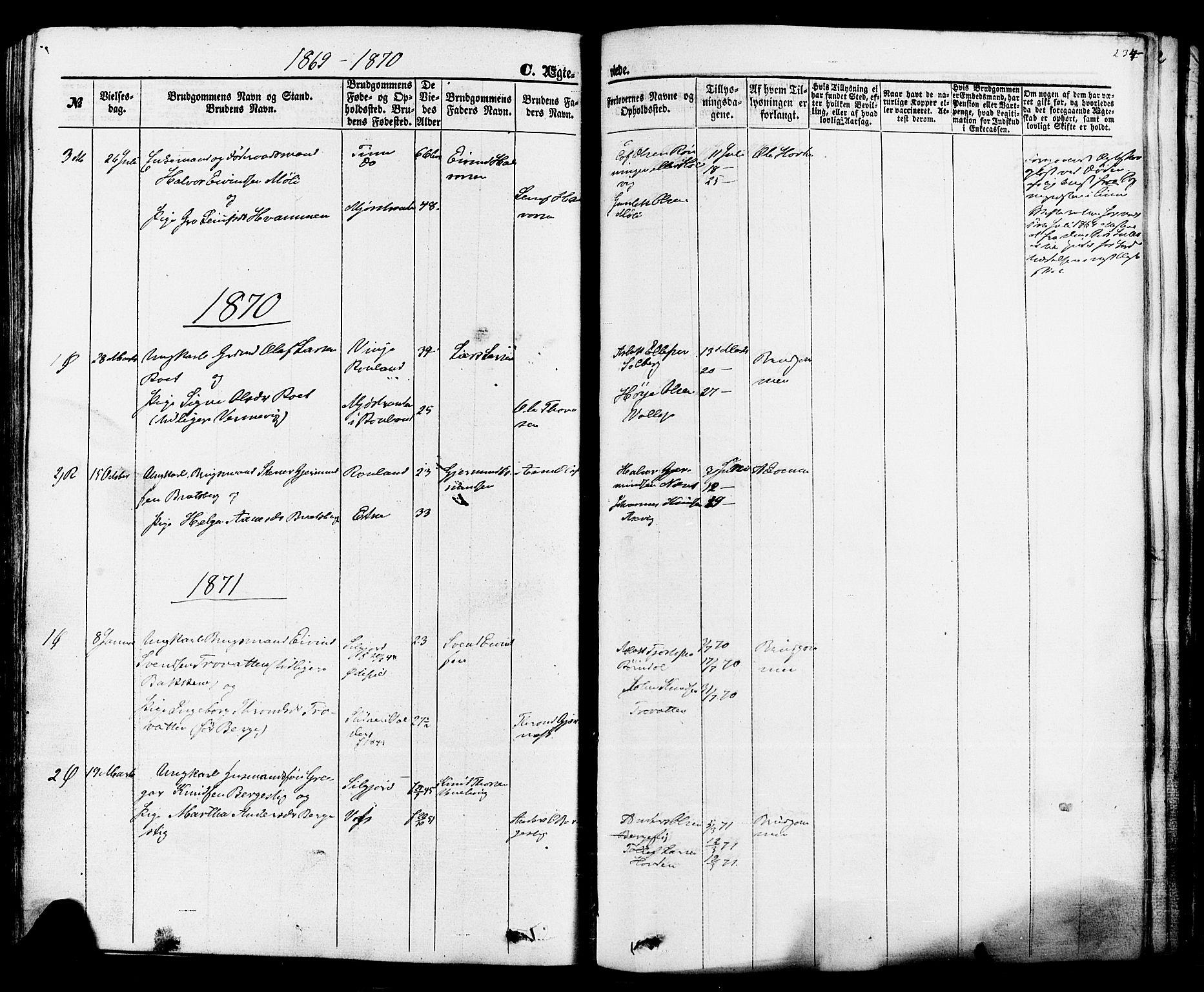 SAKO, Rauland kirkebøker, F/Fa/L0003: Ministerialbok nr. 3, 1859-1886, s. 234
