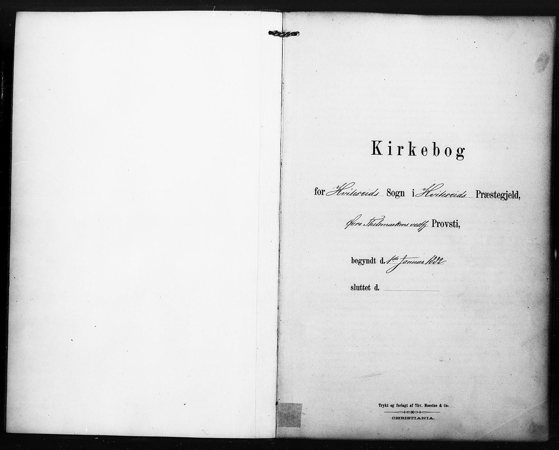 SAKO, Kviteseid kirkebøker, F/Fa/L0008: Ministerialbok nr. I 8, 1882-1903