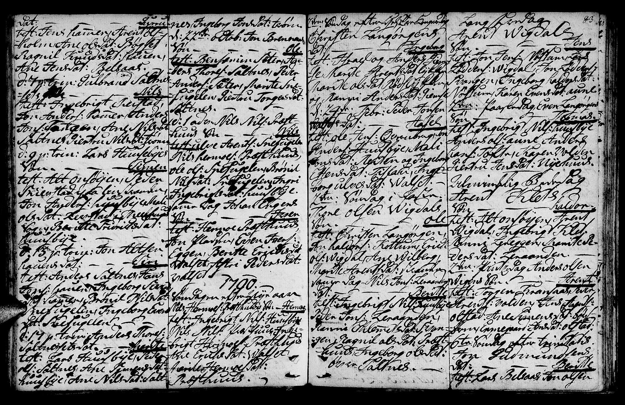 SAT, Ministerialprotokoller, klokkerbøker og fødselsregistre - Sør-Trøndelag, 666/L0784: Ministerialbok nr. 666A02, 1754-1802, s. 83