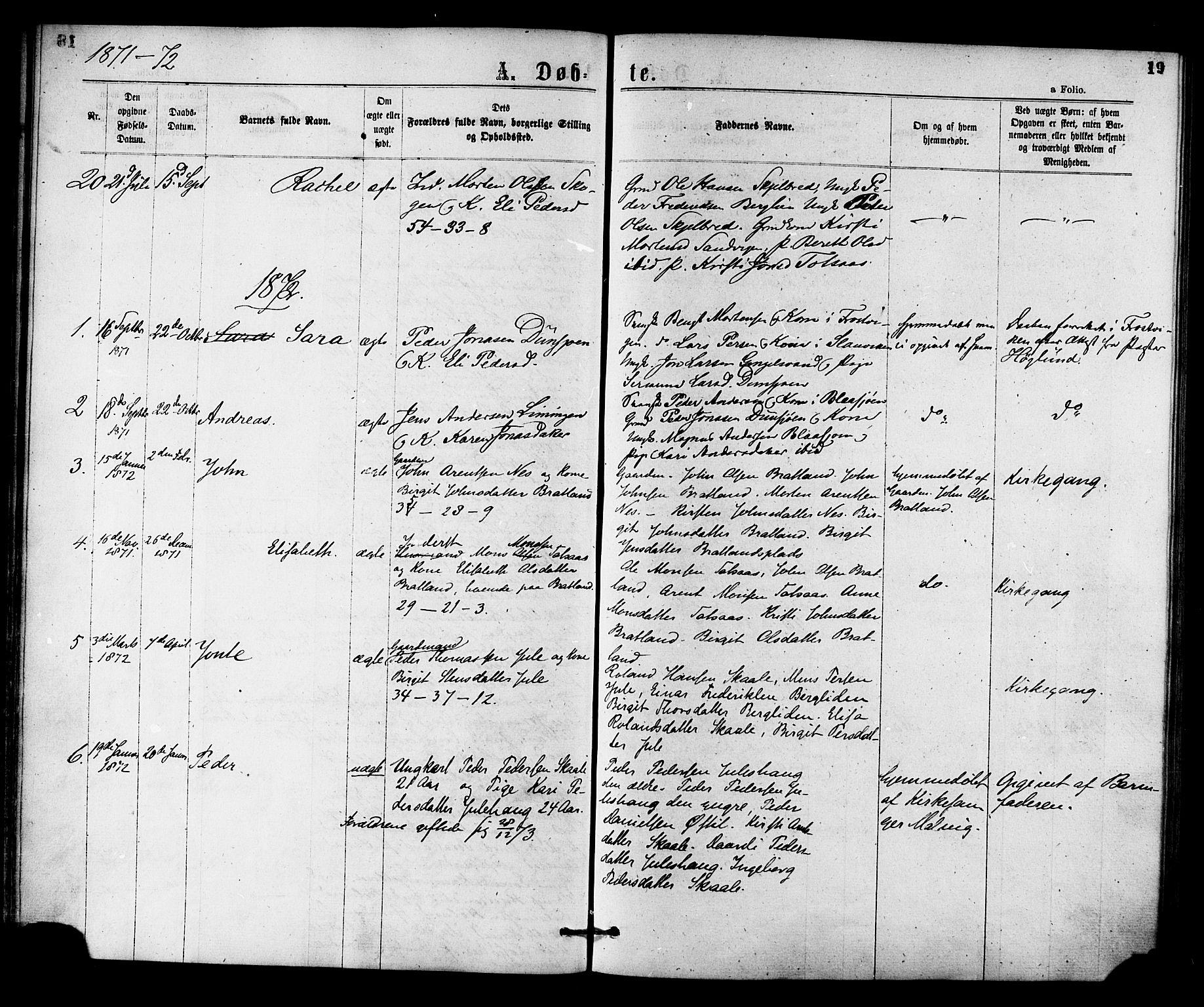 SAT, Ministerialprotokoller, klokkerbøker og fødselsregistre - Nord-Trøndelag, 755/L0493: Ministerialbok nr. 755A02, 1865-1881, s. 19