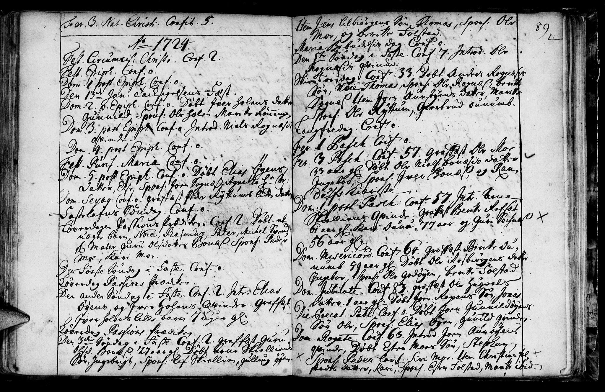 SAT, Ministerialprotokoller, klokkerbøker og fødselsregistre - Sør-Trøndelag, 687/L0990: Ministerialbok nr. 687A01, 1690-1746, s. 89