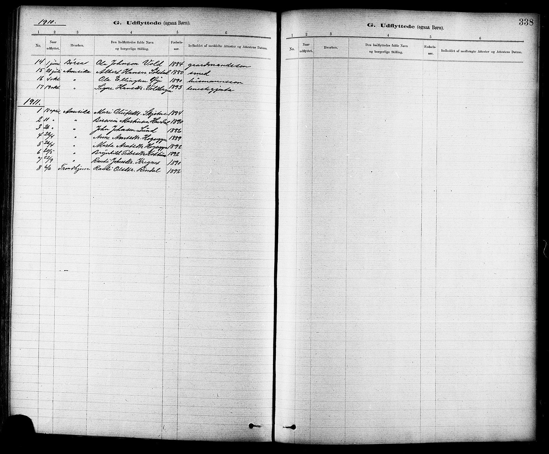 SAT, Ministerialprotokoller, klokkerbøker og fødselsregistre - Sør-Trøndelag, 691/L1094: Klokkerbok nr. 691C05, 1879-1911, s. 338