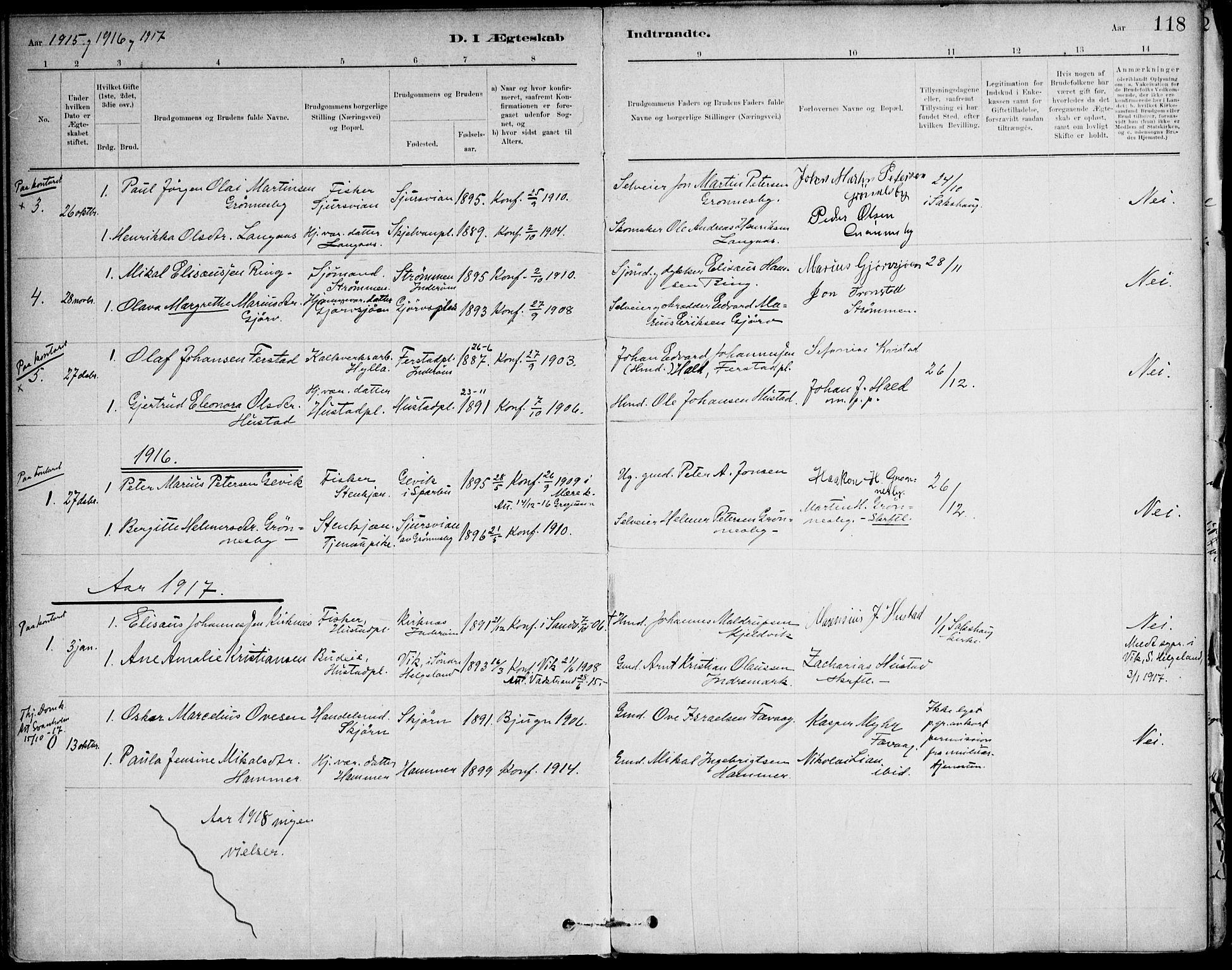 SAT, Ministerialprotokoller, klokkerbøker og fødselsregistre - Nord-Trøndelag, 732/L0316: Ministerialbok nr. 732A01, 1879-1921, s. 118