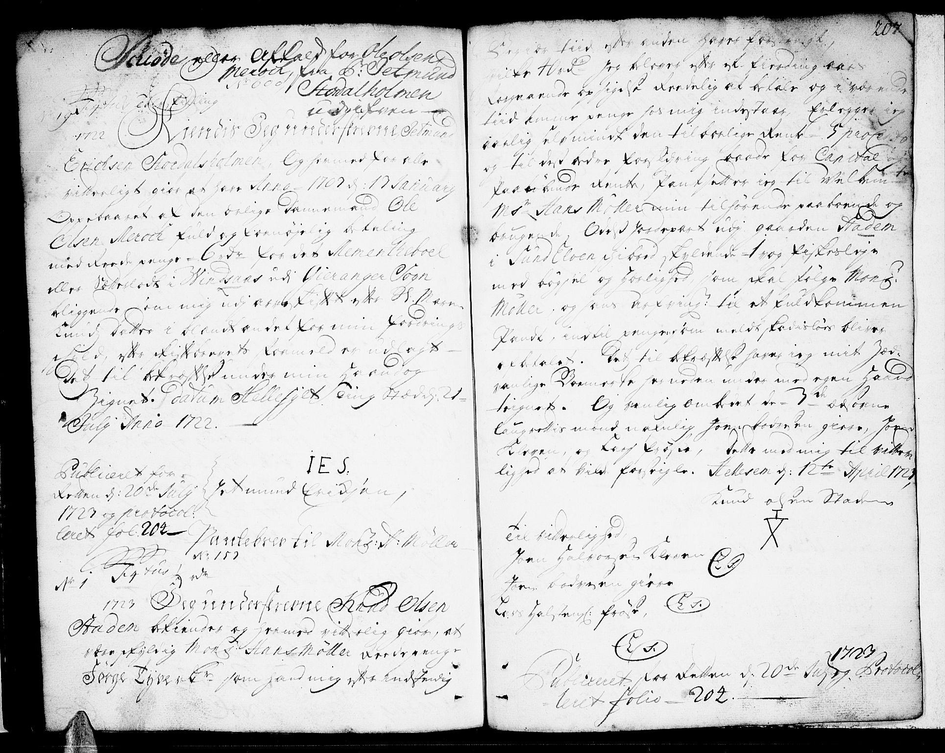 SAT, Sunnmøre sorenskriveri, 2/2C/L0001: Pantebok nr. 1, 1707-1724, s. 207
