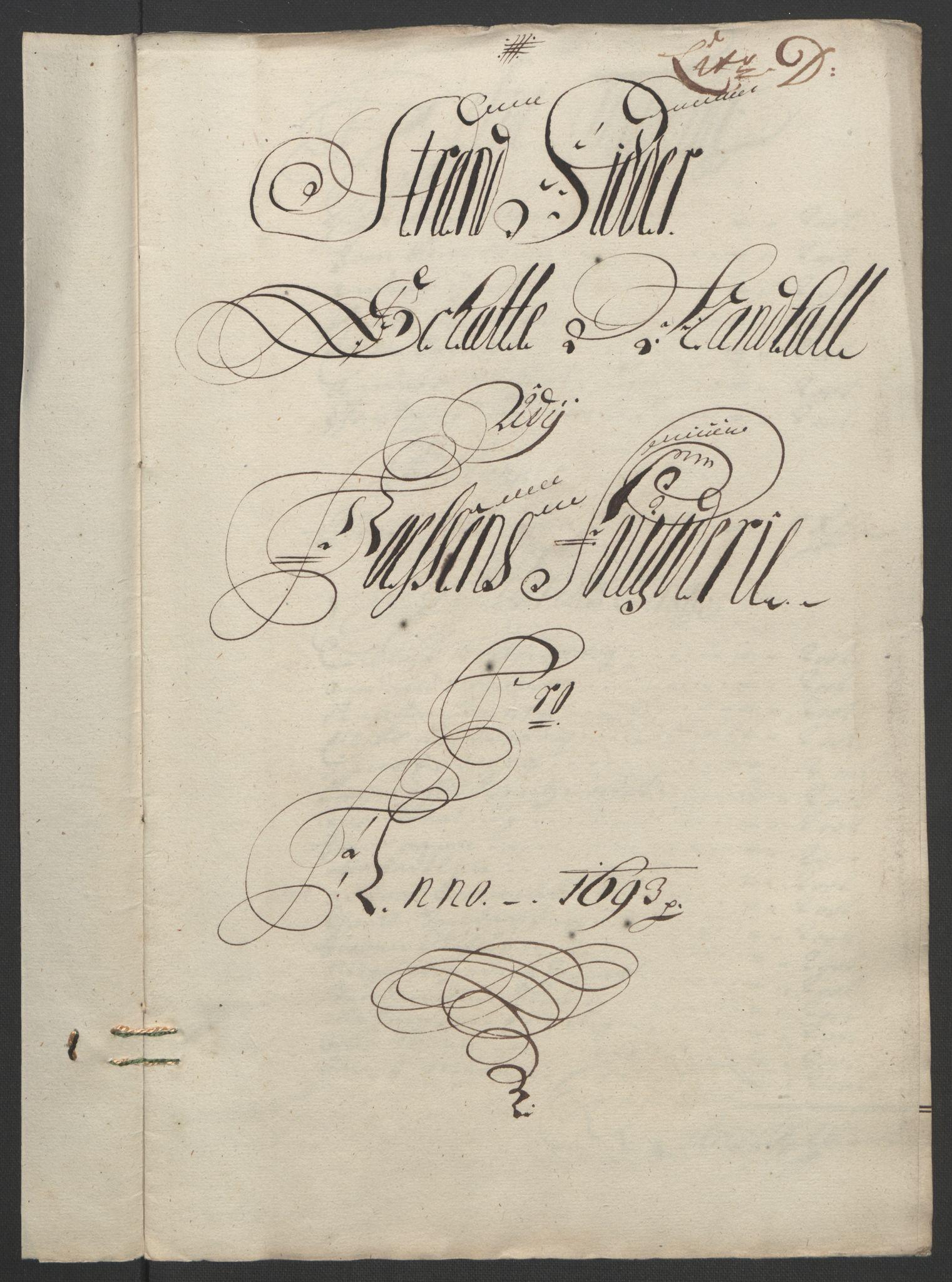 RA, Rentekammeret inntil 1814, Reviderte regnskaper, Fogderegnskap, R57/L3849: Fogderegnskap Fosen, 1692-1693, s. 451