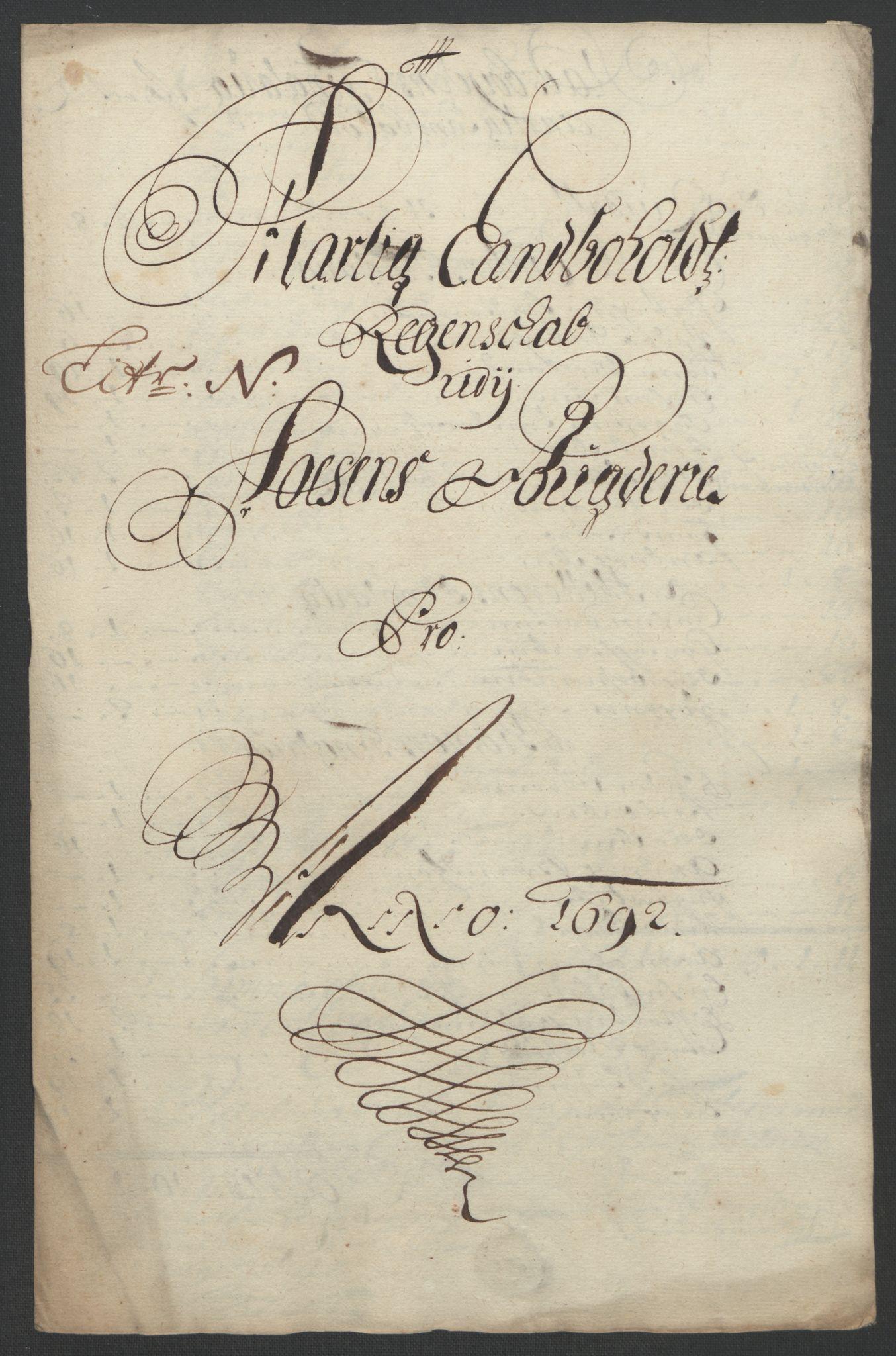 RA, Rentekammeret inntil 1814, Reviderte regnskaper, Fogderegnskap, R57/L3849: Fogderegnskap Fosen, 1692-1693, s. 202