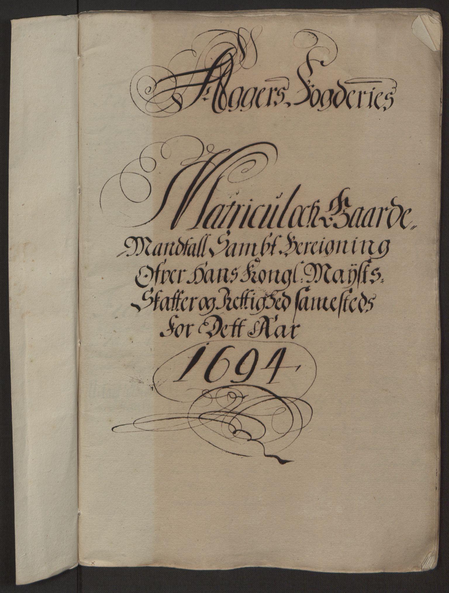 RA, Rentekammeret inntil 1814, Reviderte regnskaper, Fogderegnskap, R10/L0438: Fogderegnskap Aker og Follo, 1694, s. 27