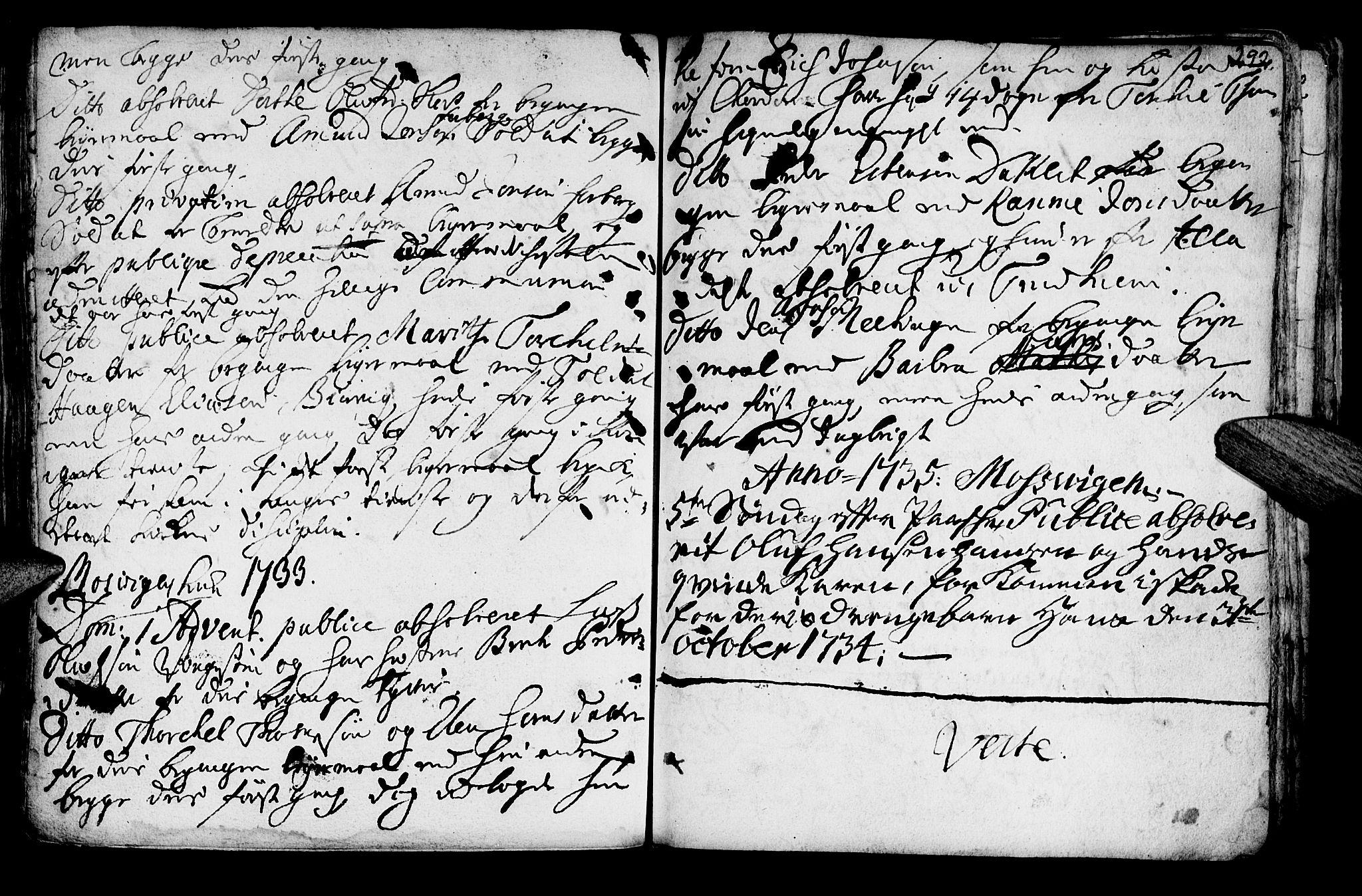 SAT, Ministerialprotokoller, klokkerbøker og fødselsregistre - Nord-Trøndelag, 722/L0215: Ministerialbok nr. 722A02, 1718-1755, s. 292