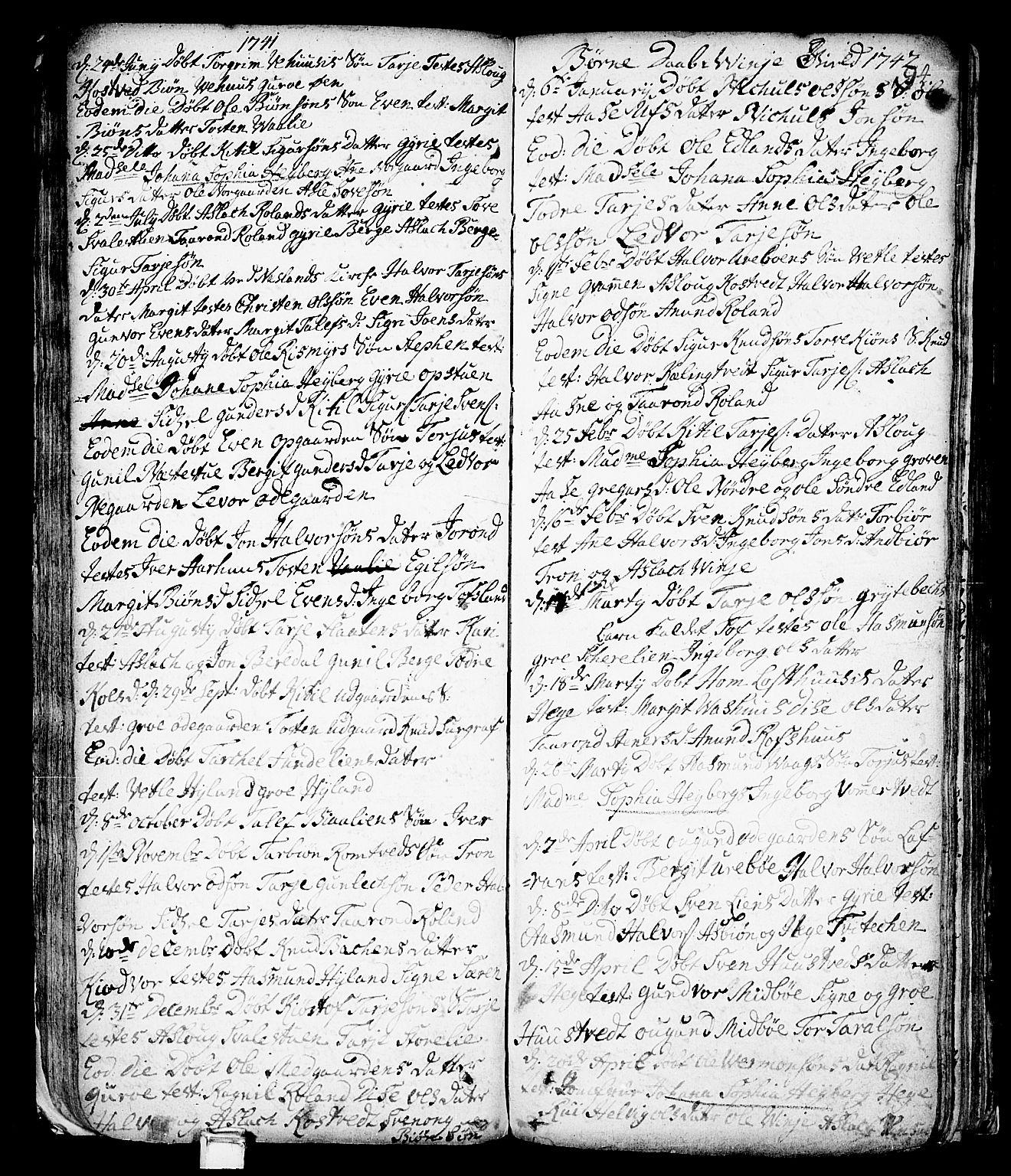 SAKO, Vinje kirkebøker, F/Fa/L0001: Ministerialbok nr. I 1, 1717-1766, s. 94