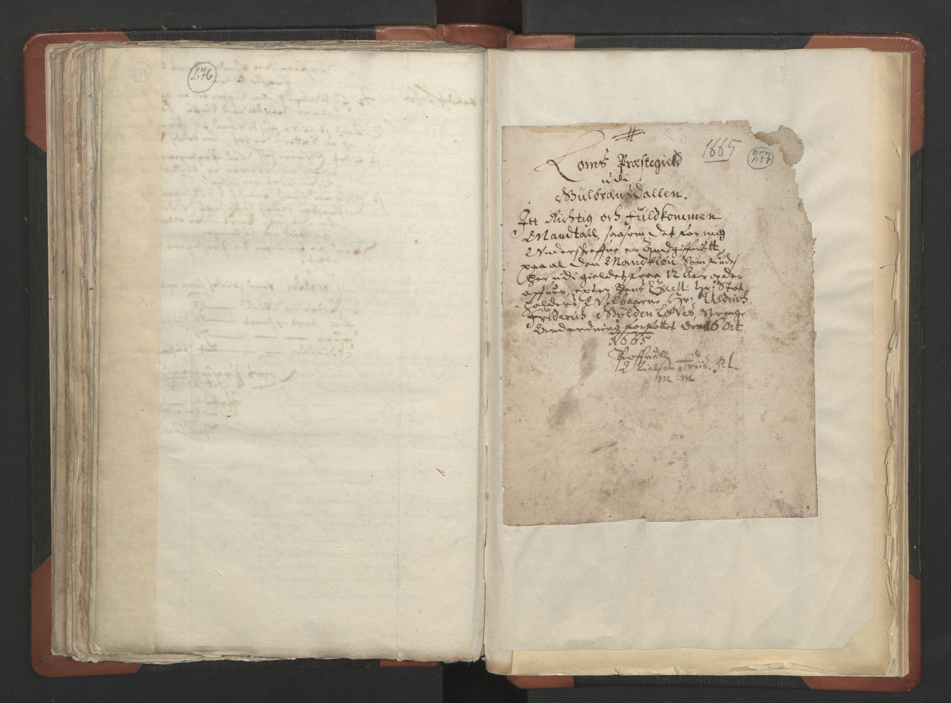 RA, Sogneprestenes manntall 1664-1666, nr. 6: Gudbrandsdal prosti, 1664-1666, s. 276-277