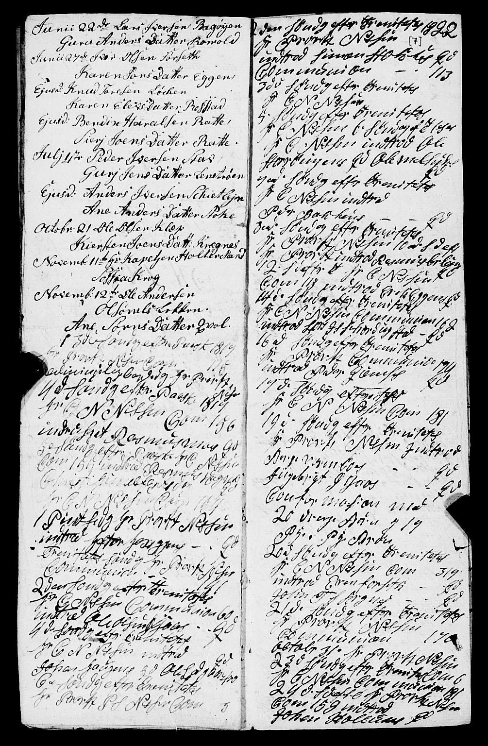SAT, Ministerialprotokoller, klokkerbøker og fødselsregistre - Sør-Trøndelag, 691/L1091: Klokkerbok nr. 691C02, 1802-1815, s. 7