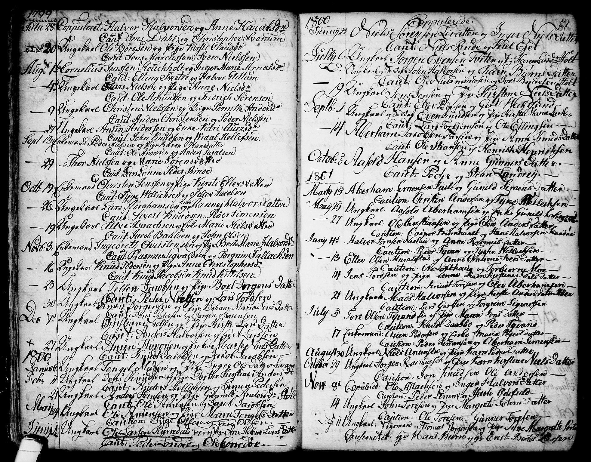 SAKO, Sannidal kirkebøker, F/Fa/L0002: Ministerialbok nr. 2, 1767-1802, s. 21