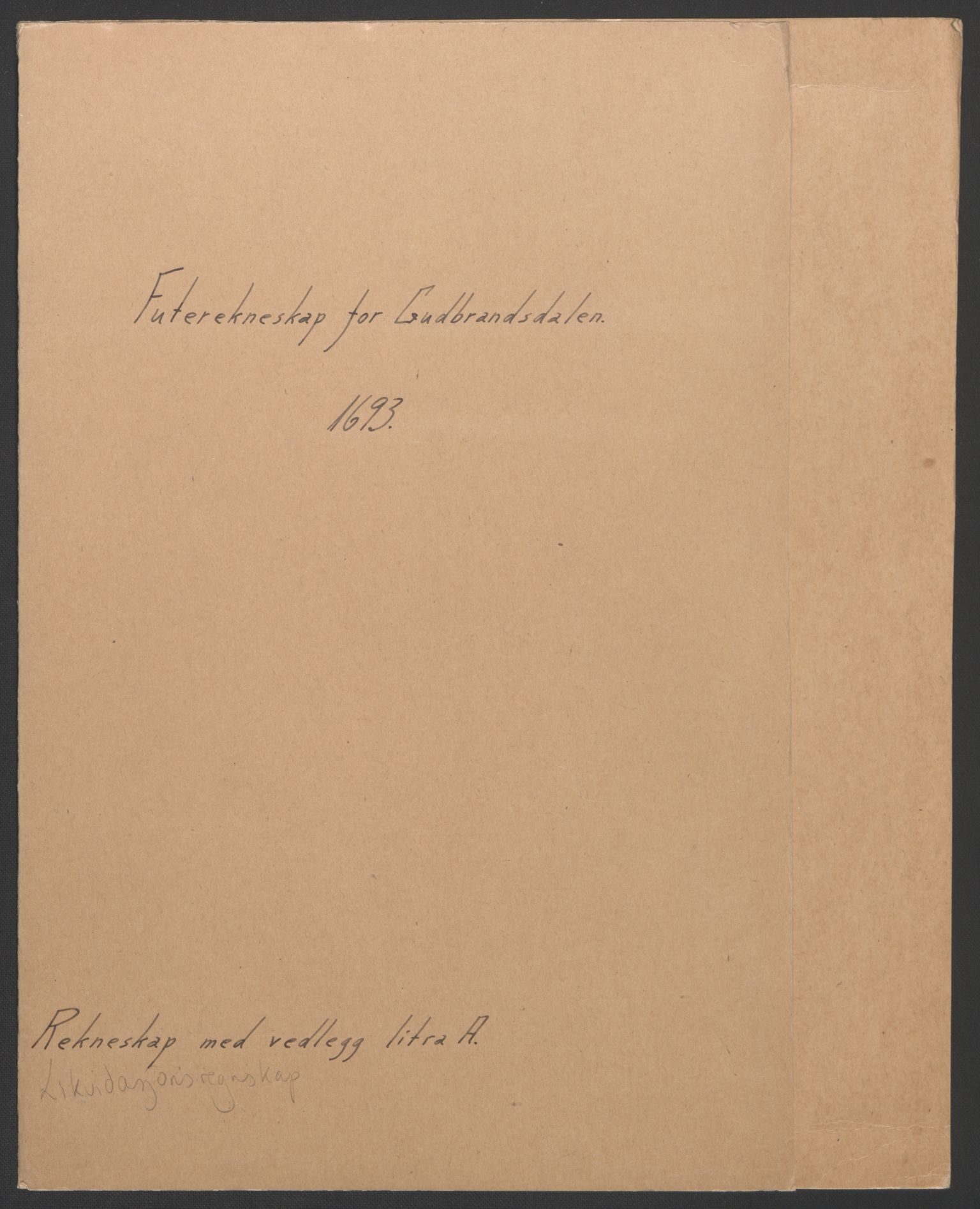 RA, Rentekammeret inntil 1814, Reviderte regnskaper, Fogderegnskap, R17/L1167: Fogderegnskap Gudbrandsdal, 1693, s. 2