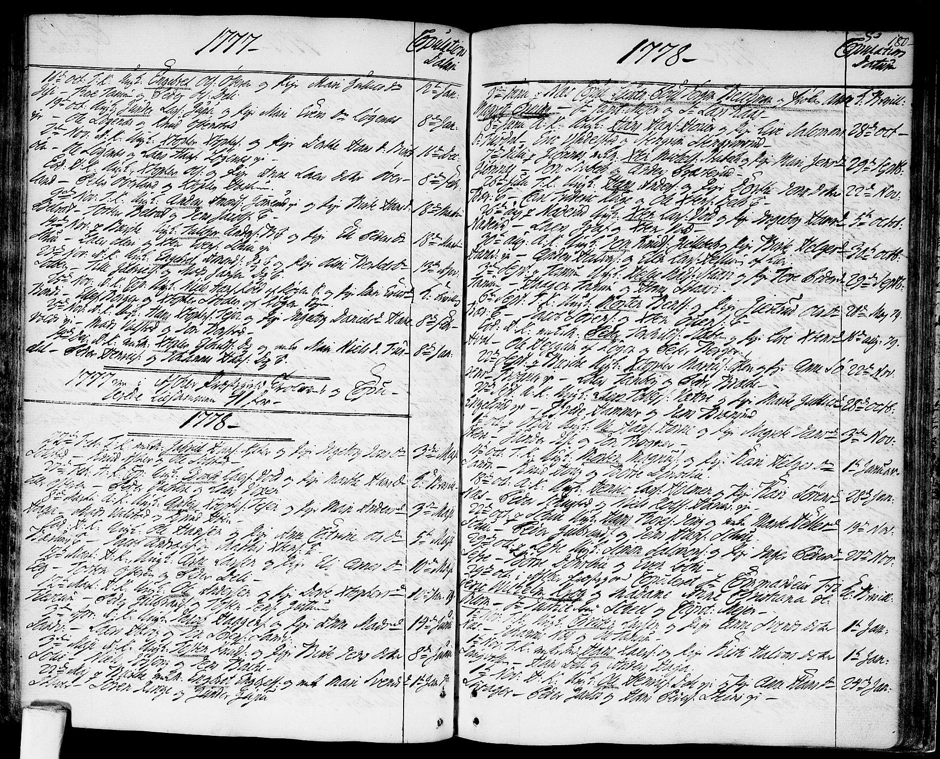 SAO, Asker prestekontor Kirkebøker, F/Fa/L0003: Ministerialbok nr. I 3, 1767-1807, s. 180
