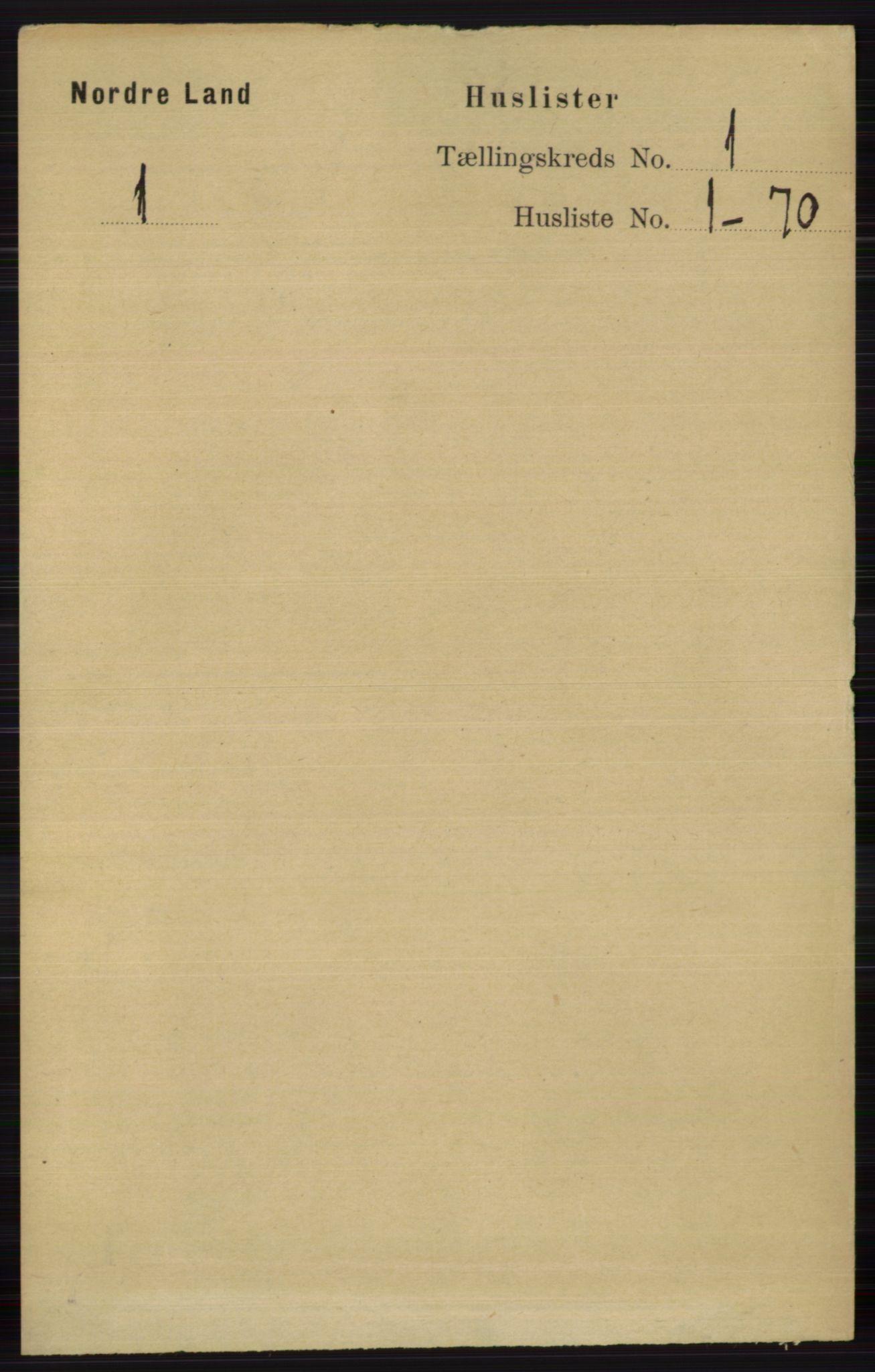 RA, Folketelling 1891 for 0538 Nordre Land herred, 1891, s. 47