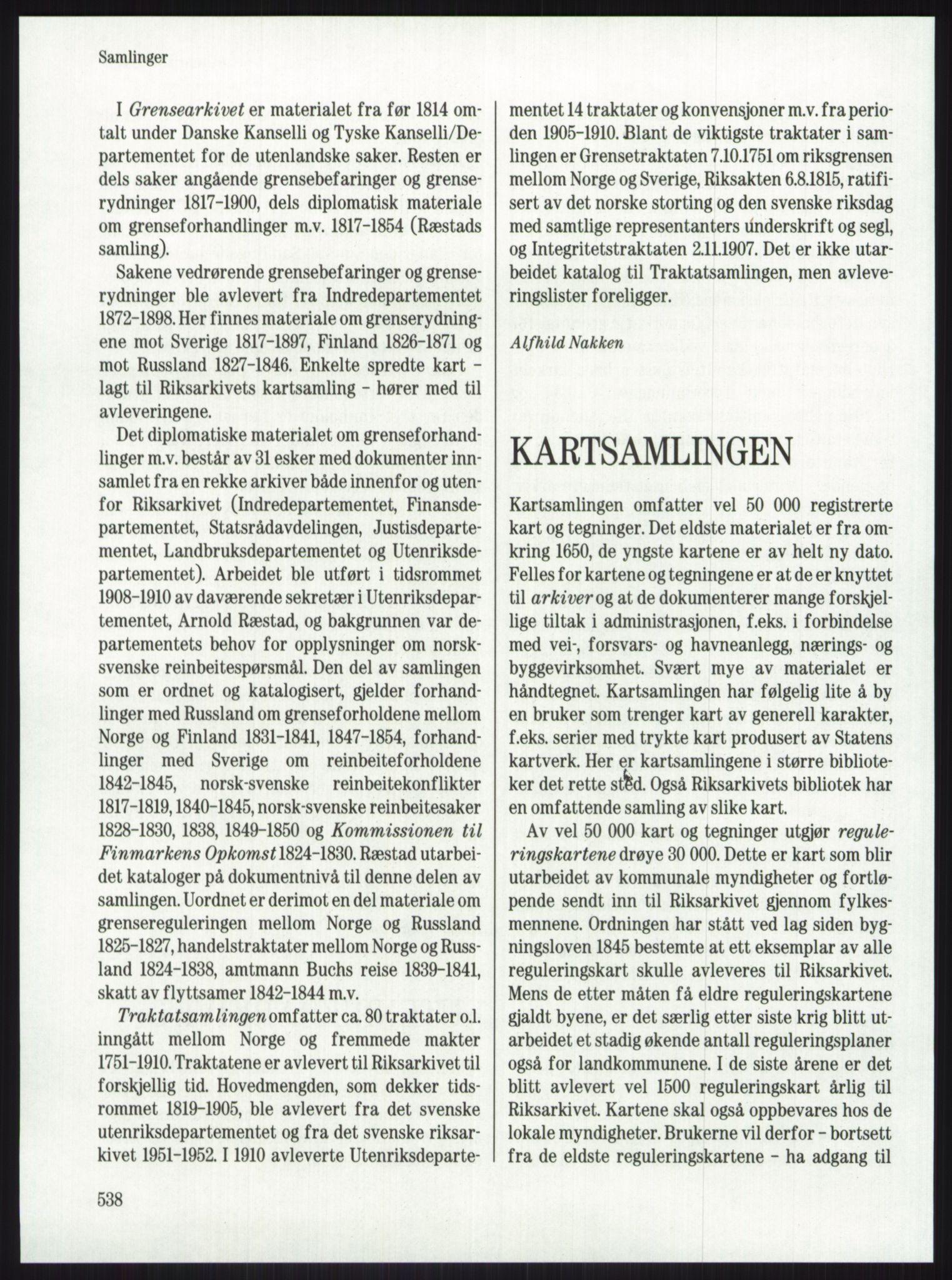 PUBL, Publikasjoner utgitt av Arkivverket, -/-: Knut Johannessen, Ole Kolsrud og Dag Mangset (red.): Håndbok for Riksarkivet (1992), s. 538