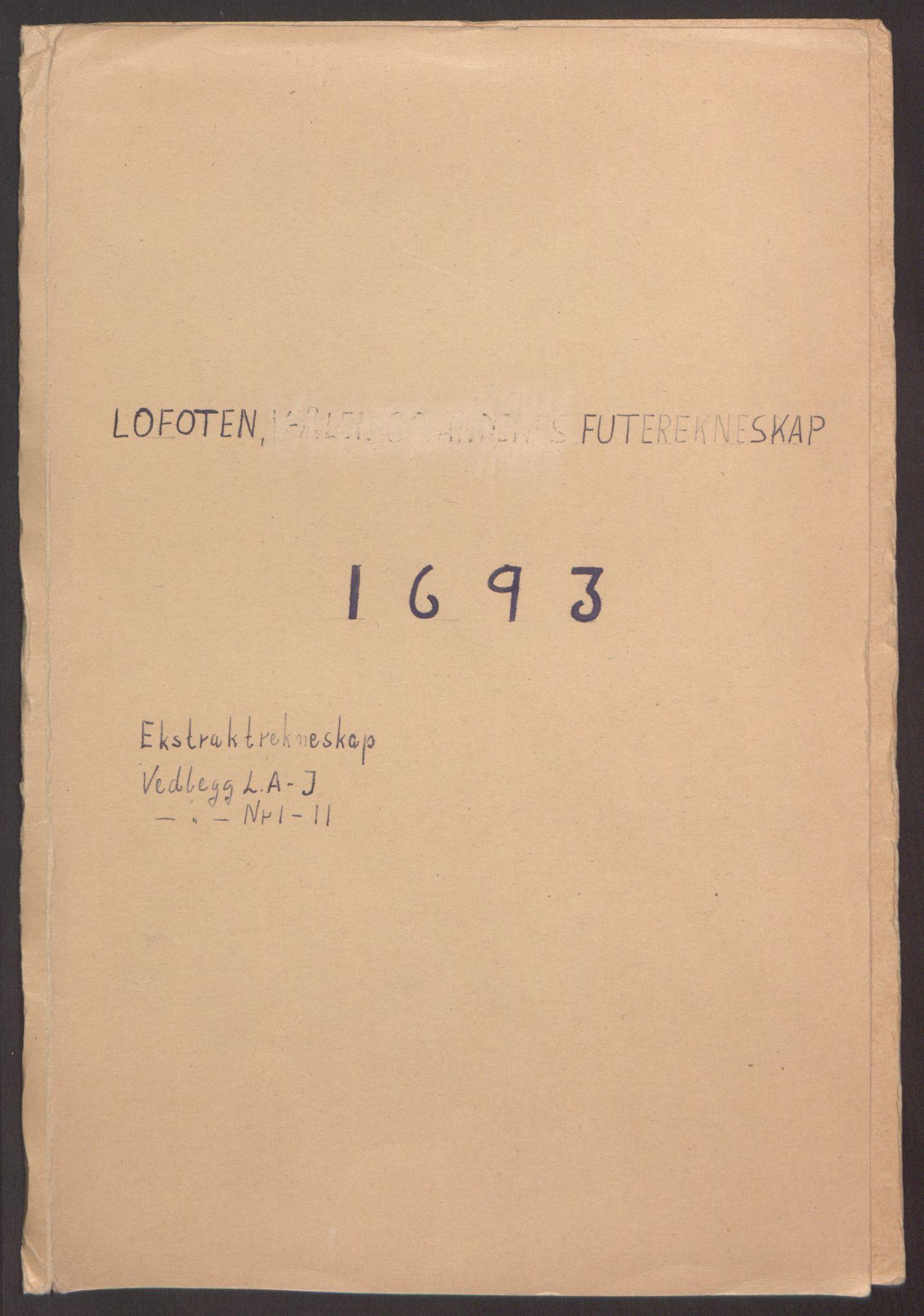 RA, Rentekammeret inntil 1814, Reviderte regnskaper, Fogderegnskap, R67/L4675: Fogderegnskap Vesterålen, Andenes og Lofoten, 1691-1693, s. 222