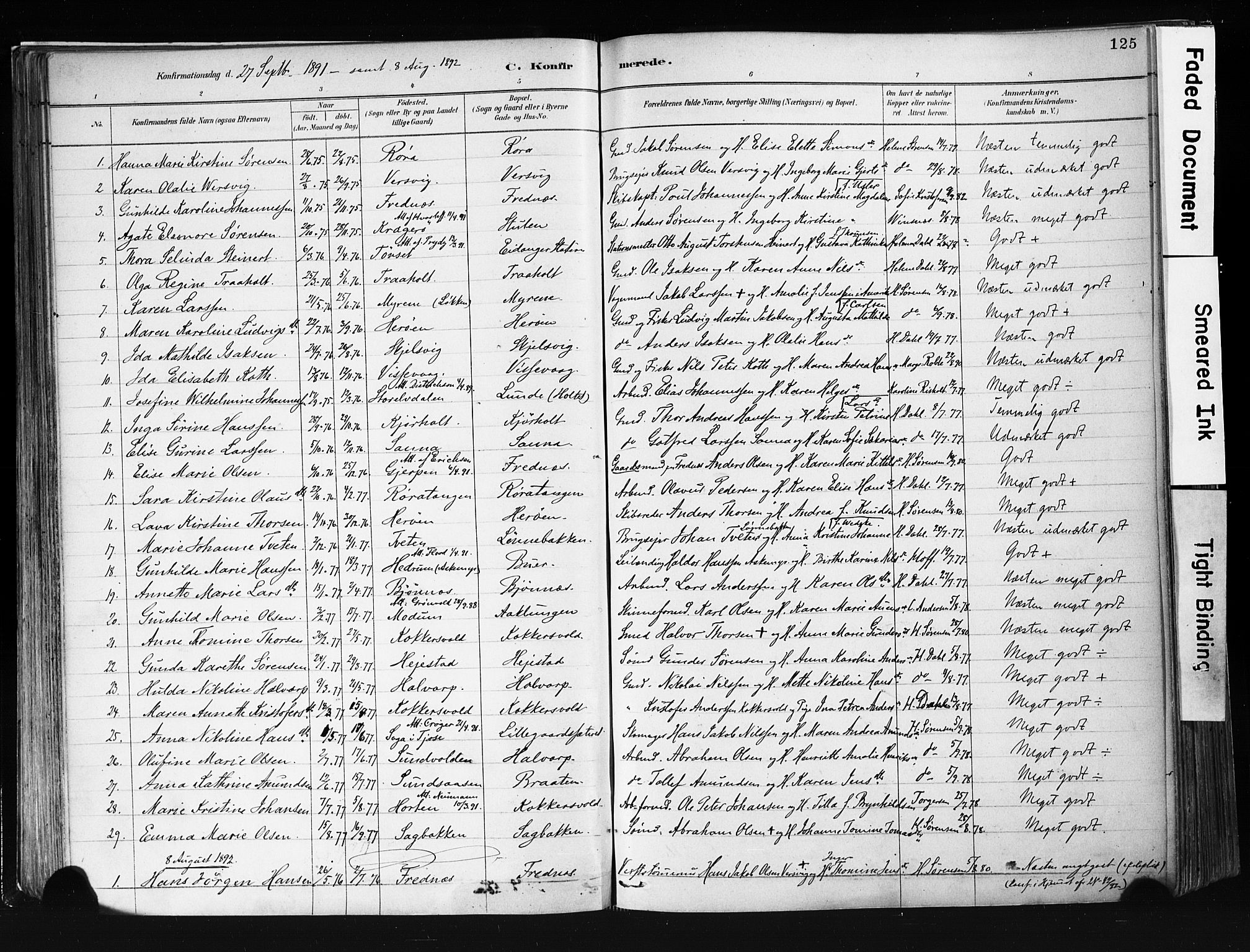 SAKO, Eidanger kirkebøker, F/Fa/L0012: Ministerialbok nr. 12, 1879-1900, s. 125