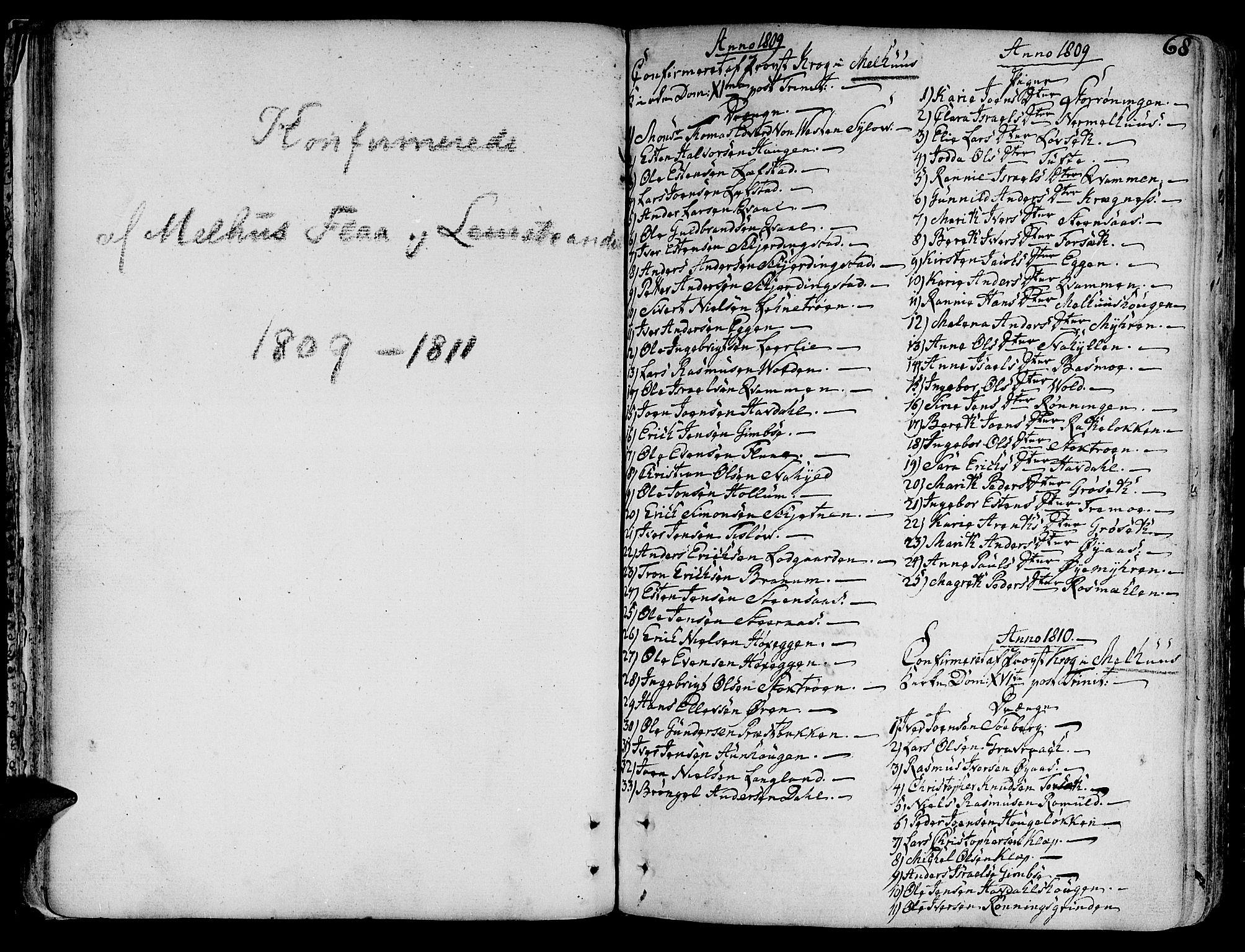 SAT, Ministerialprotokoller, klokkerbøker og fødselsregistre - Sør-Trøndelag, 691/L1061: Ministerialbok nr. 691A02 /1, 1768-1815, s. 68