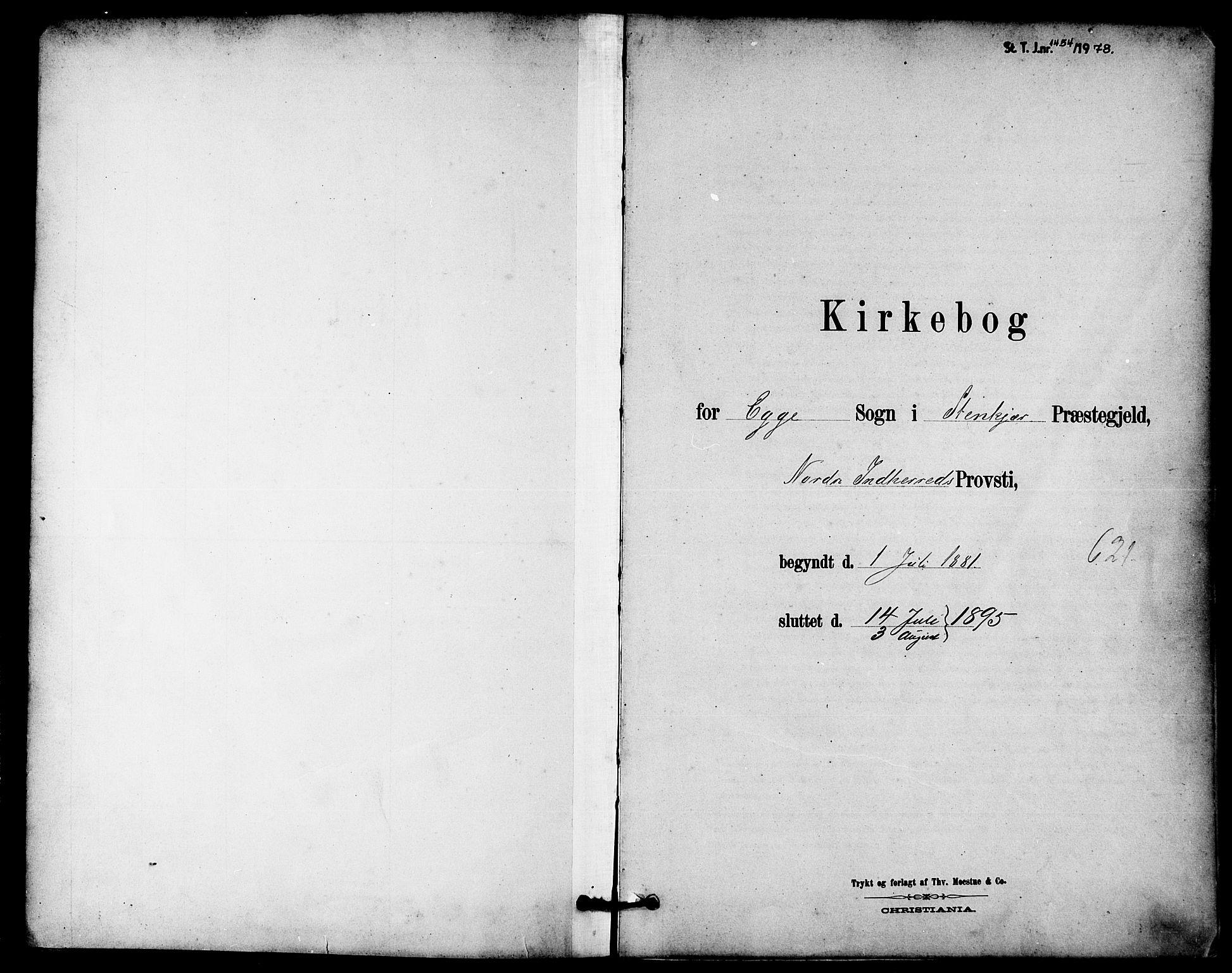 SAT, Ministerialprotokoller, klokkerbøker og fødselsregistre - Nord-Trøndelag, 740/L0378: Ministerialbok nr. 740A01, 1881-1895